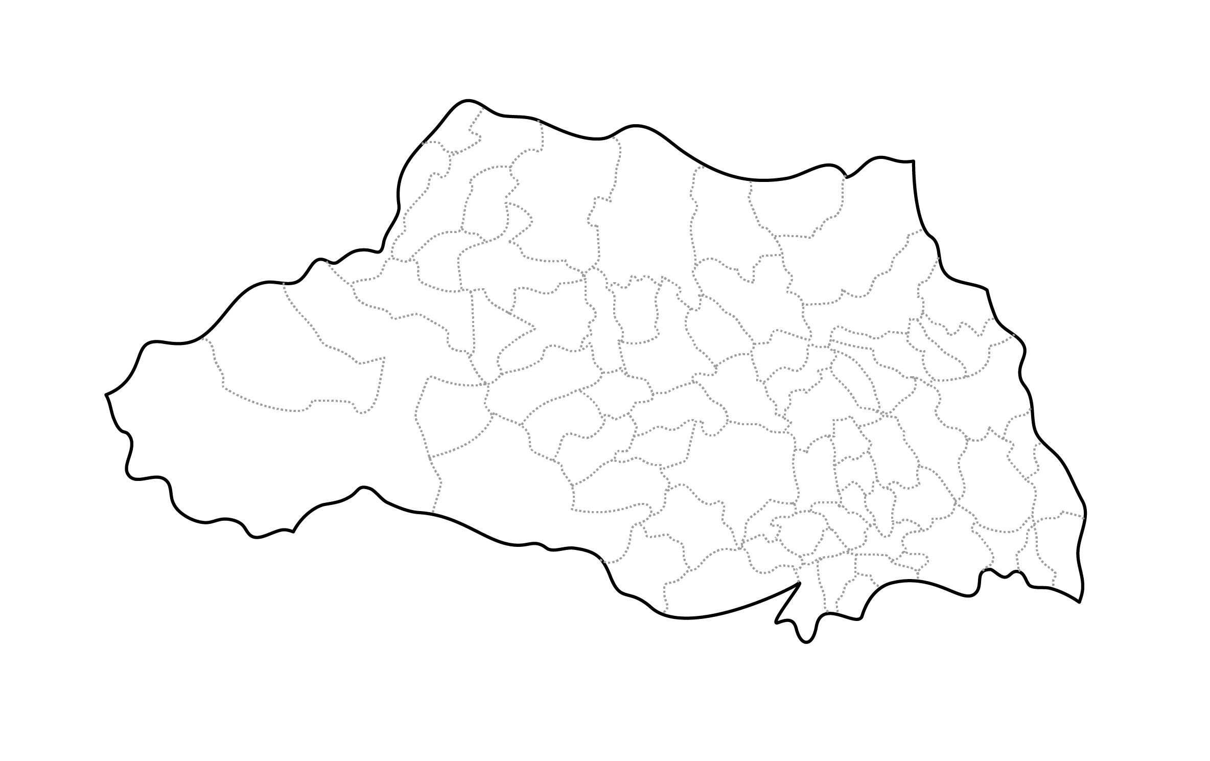 [白地図]埼玉県・ラインあり・市区町村名なし