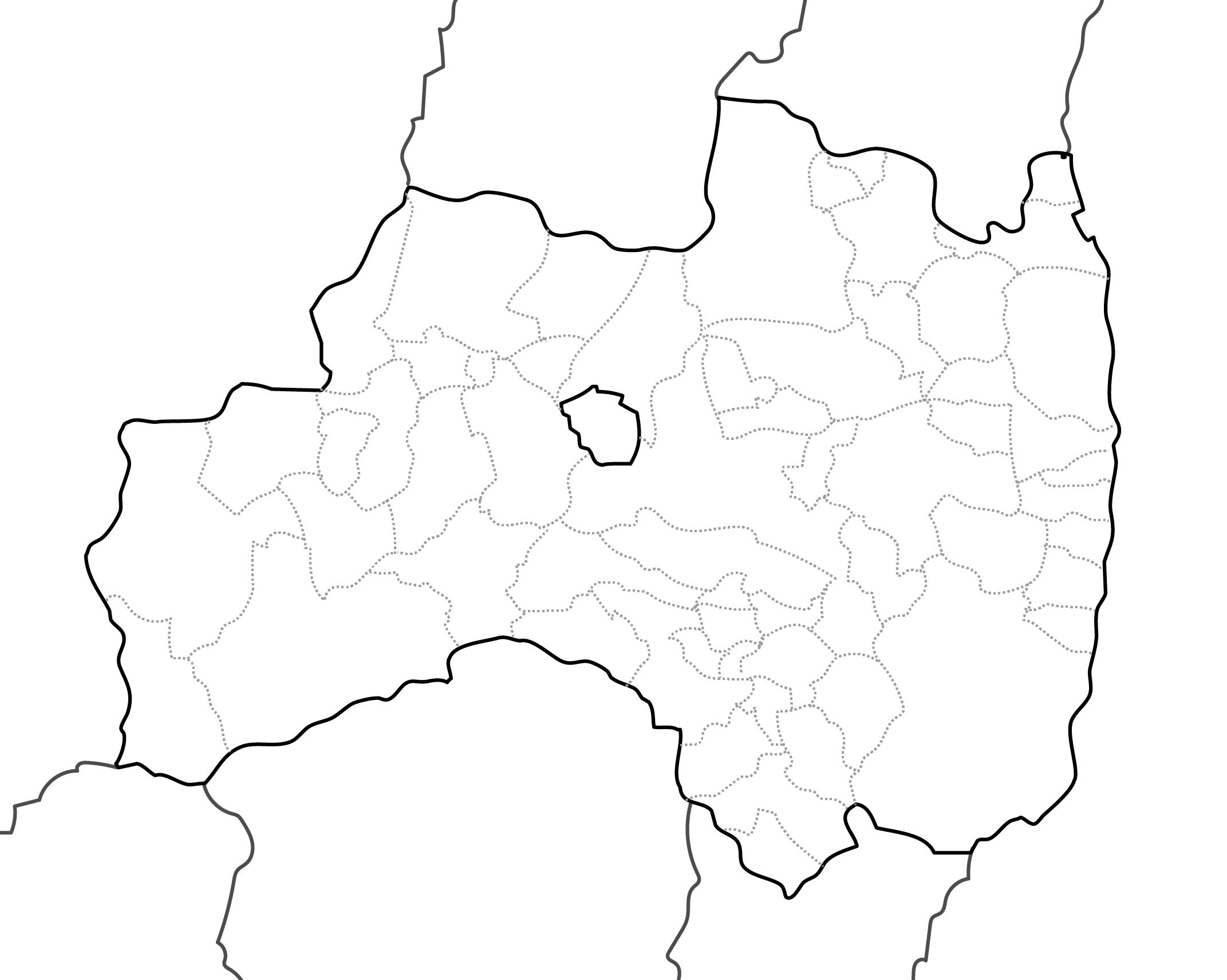 [白地図]福島県・ラインあり・市区町村名なし・隣県なし