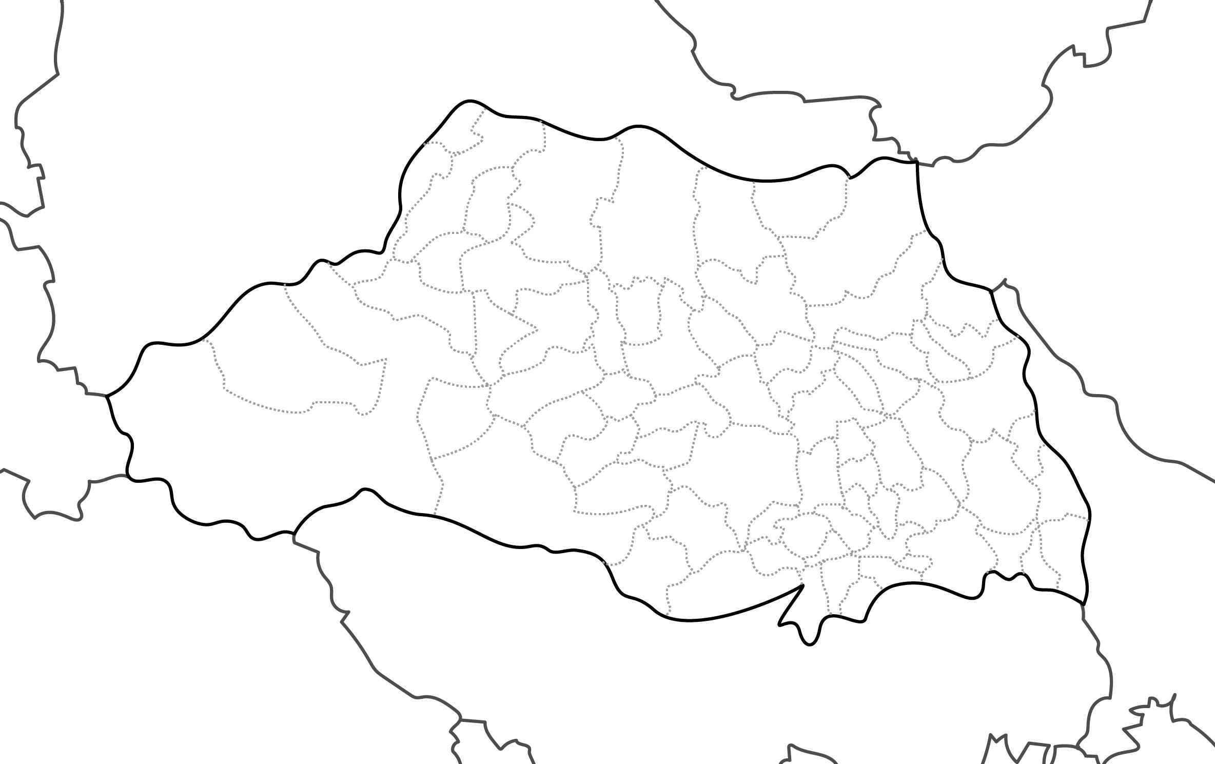 [白地図]埼玉県・ラインあり・市区町村名なし・隣県なし