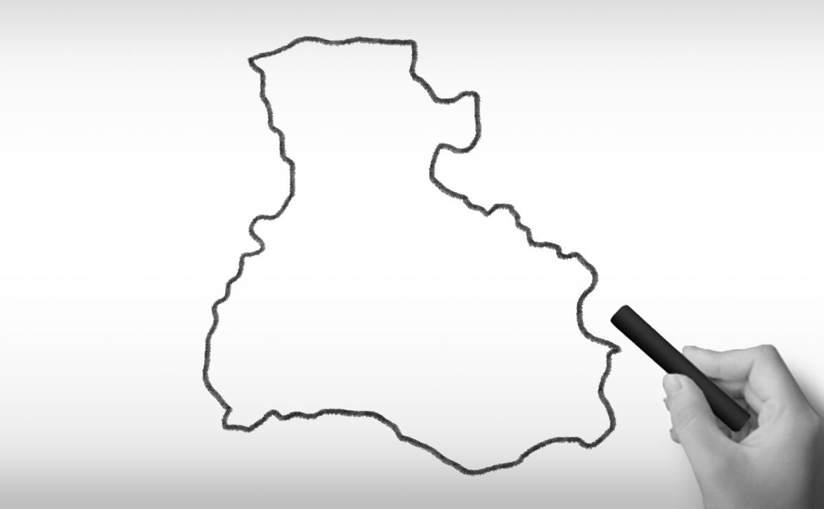 兵庫県の白地図イラスト