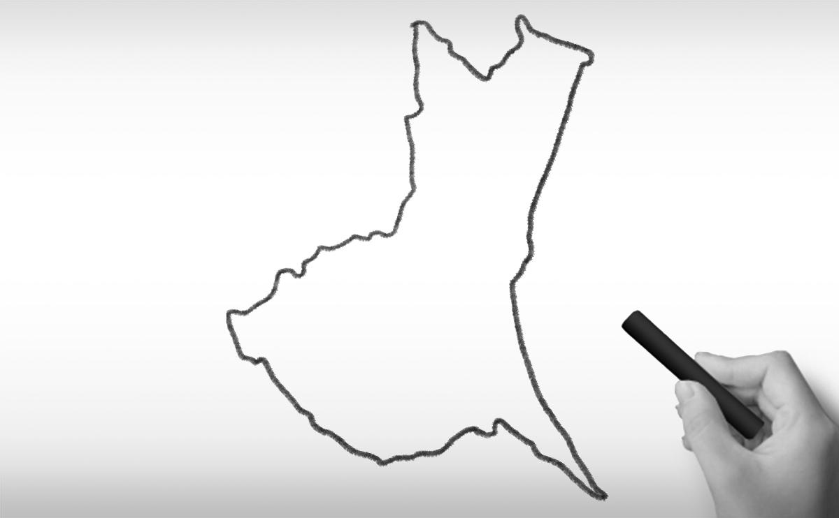 茨城県の白地図イラスト