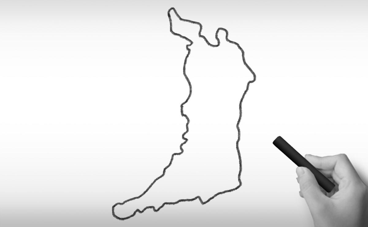 大阪府の白地図イラスト