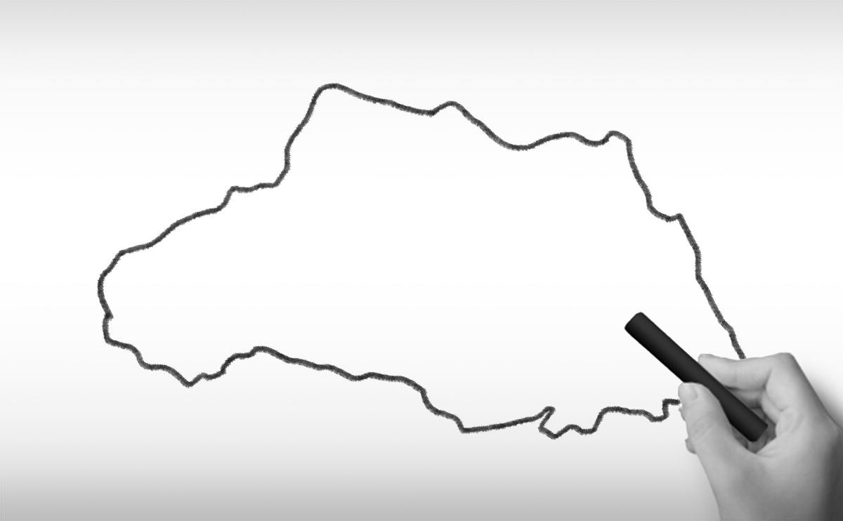 埼玉県の白地図イラスト