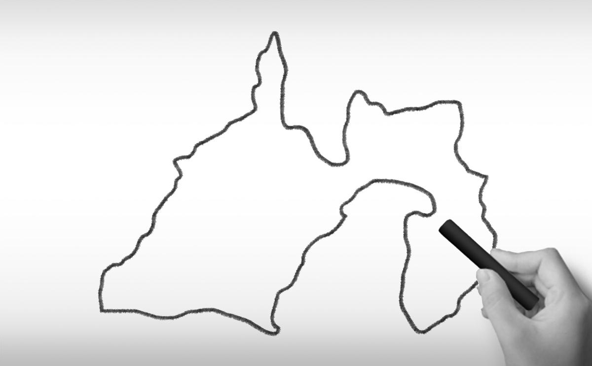 静岡県の白地図イラスト