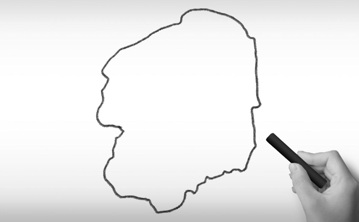 栃木県の白地図イラスト