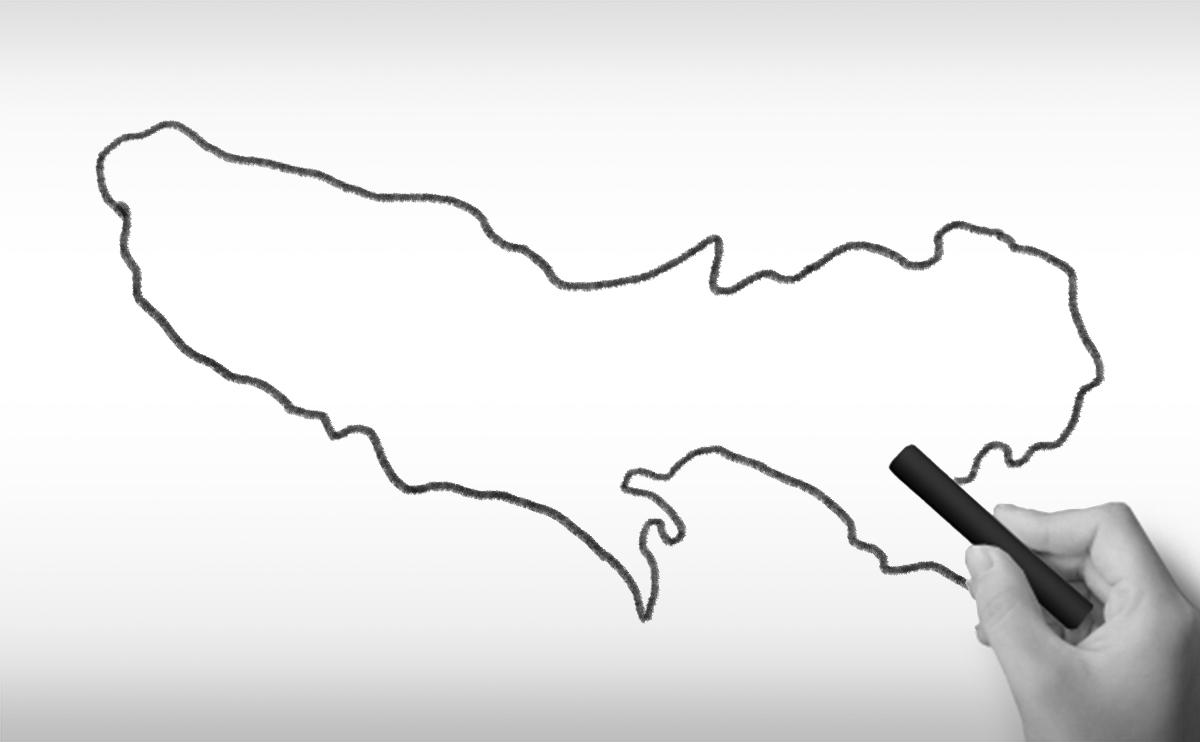 東京都の白地図イラスト