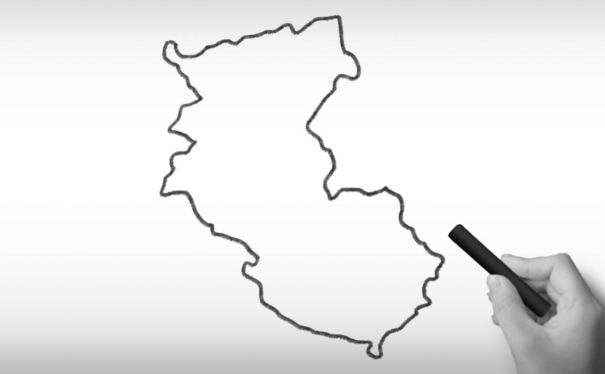 和歌山県の白地図イラスト