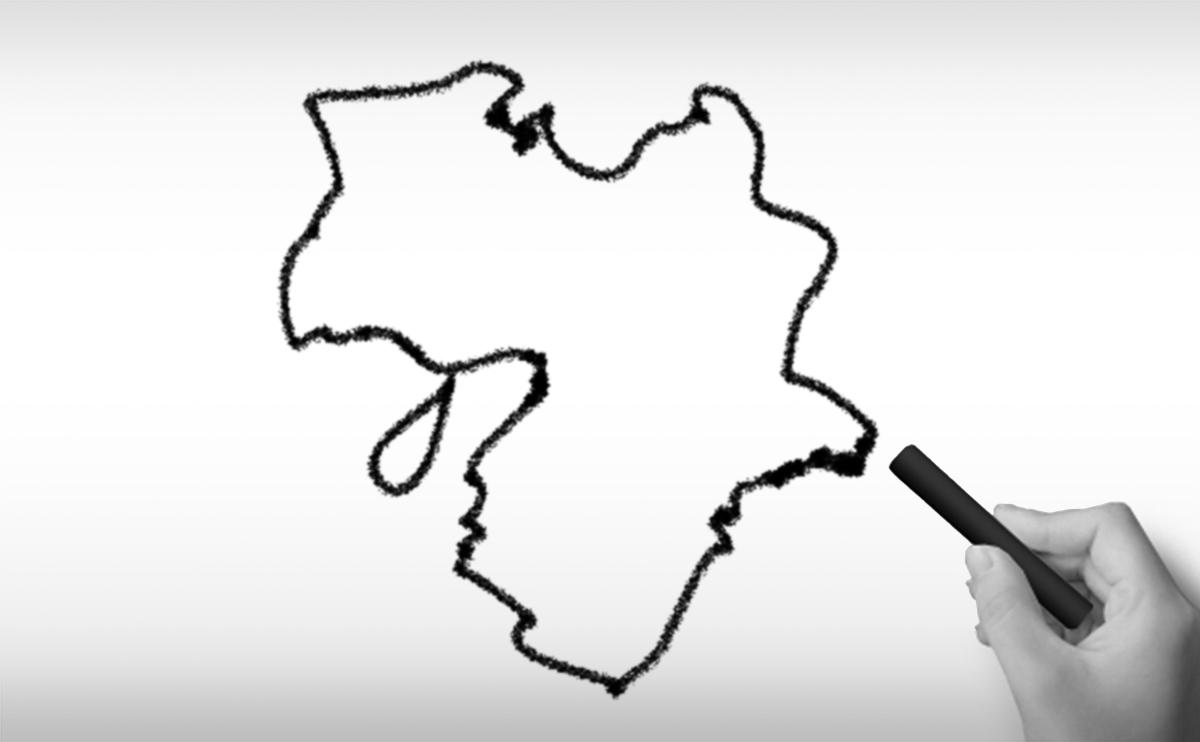 近畿地方の白地図イラスト