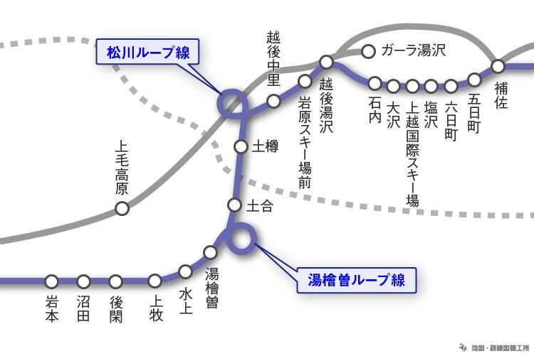とある県境の路線図