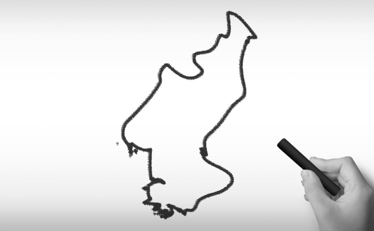 朝鮮民主主義人民共和国の白地図