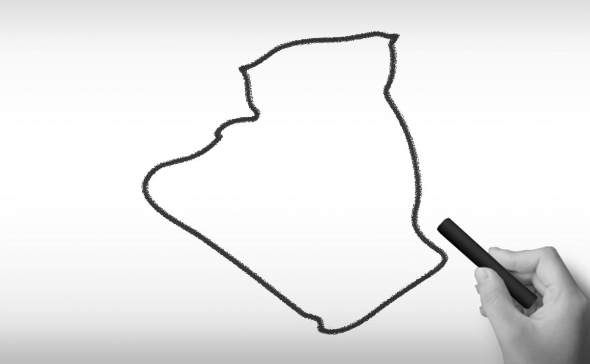 アルジェリア民主人民共和国の白地図