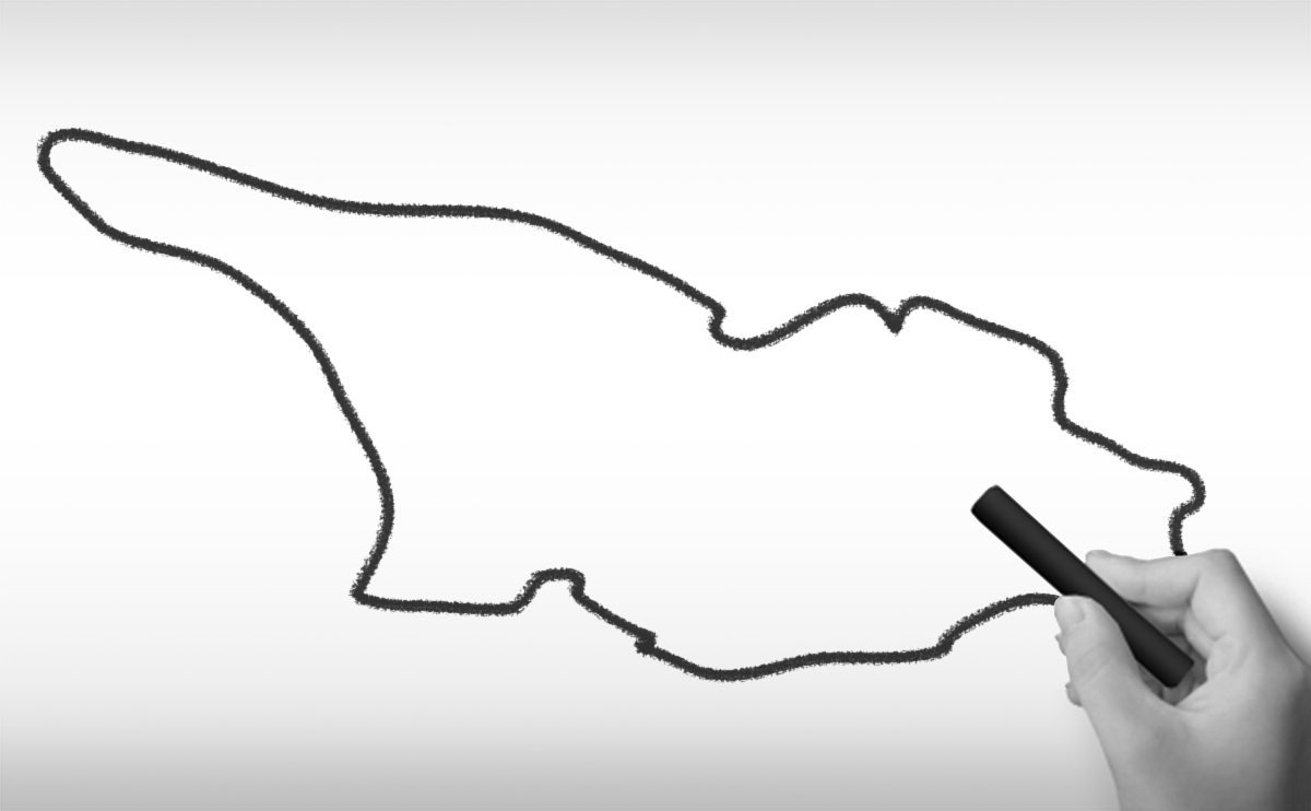 ジョージアの白地図イラスト