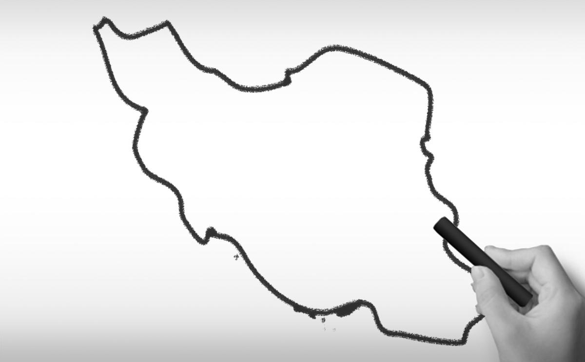 イラン・イスラム共和国の白地図イラスト