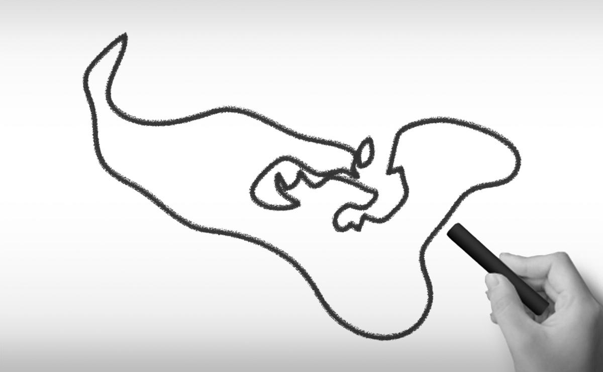 トンガ王国の白地図イラスト