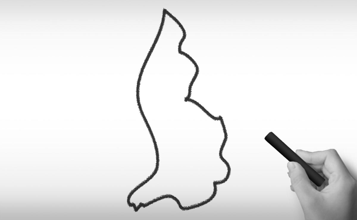 リヒテンシュタイン公園の白地図イラスト