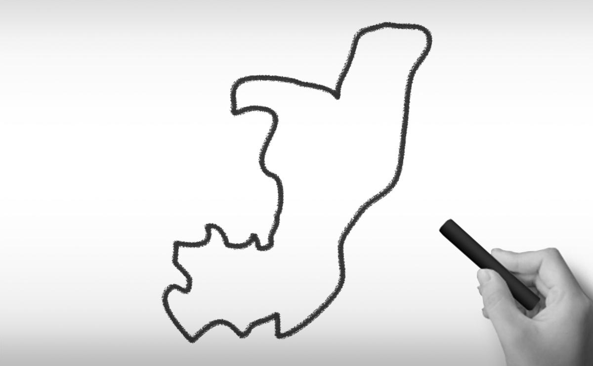 コンゴ共和国の白地図イラスト