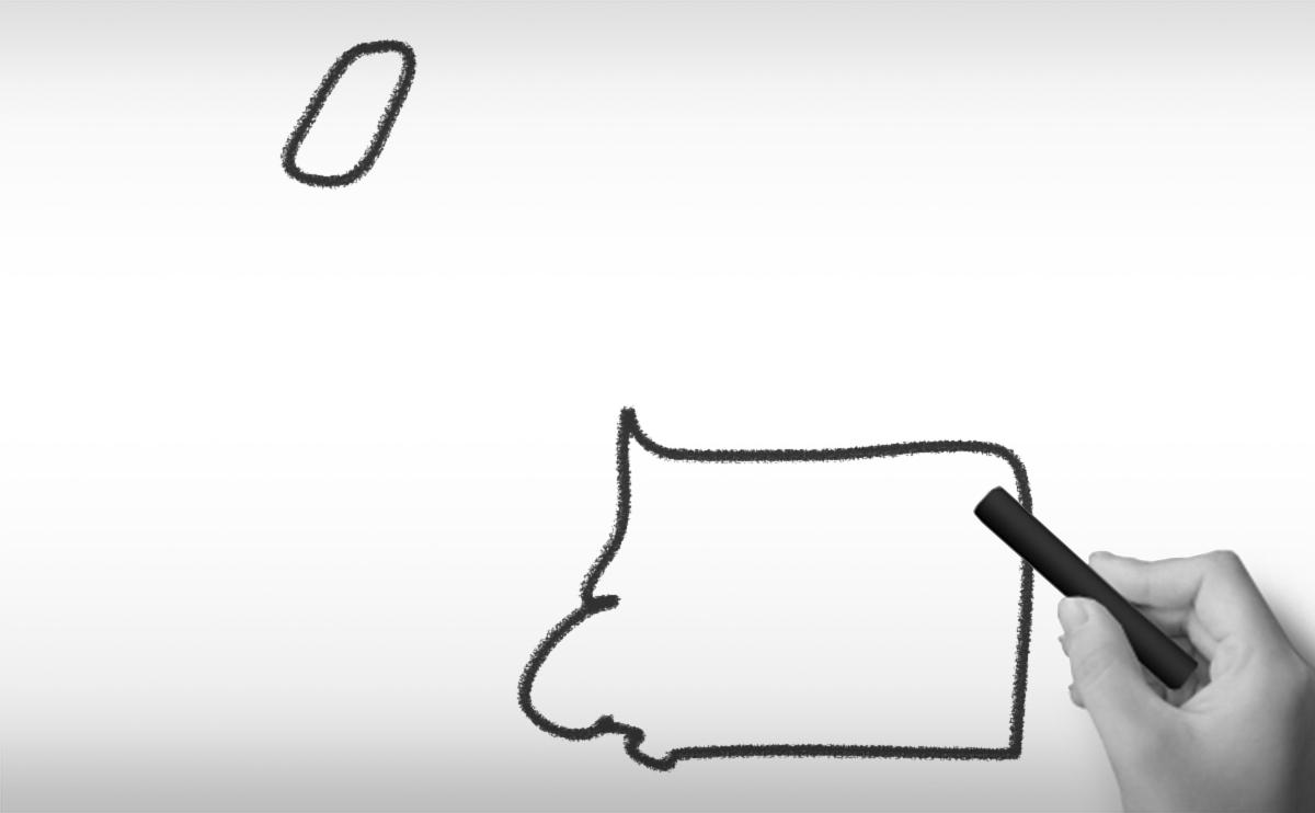 赤道ギニア共和国の白地図イラスト