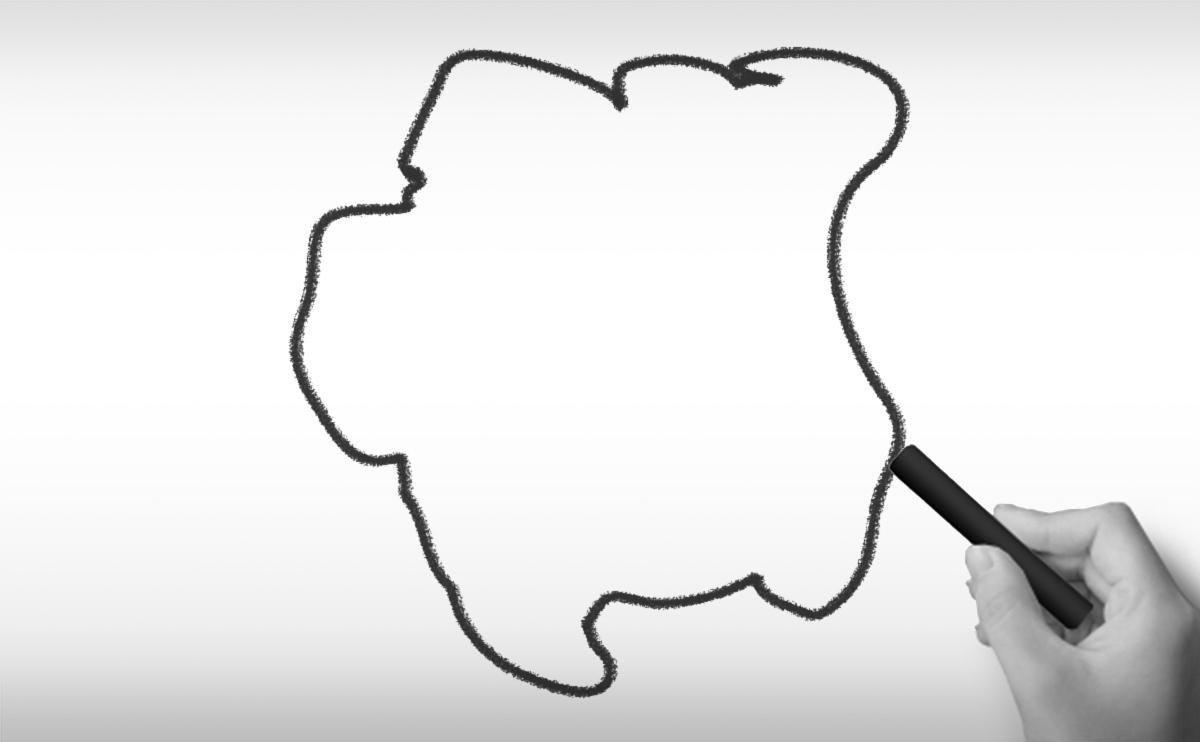スリナムの白地図イラスト