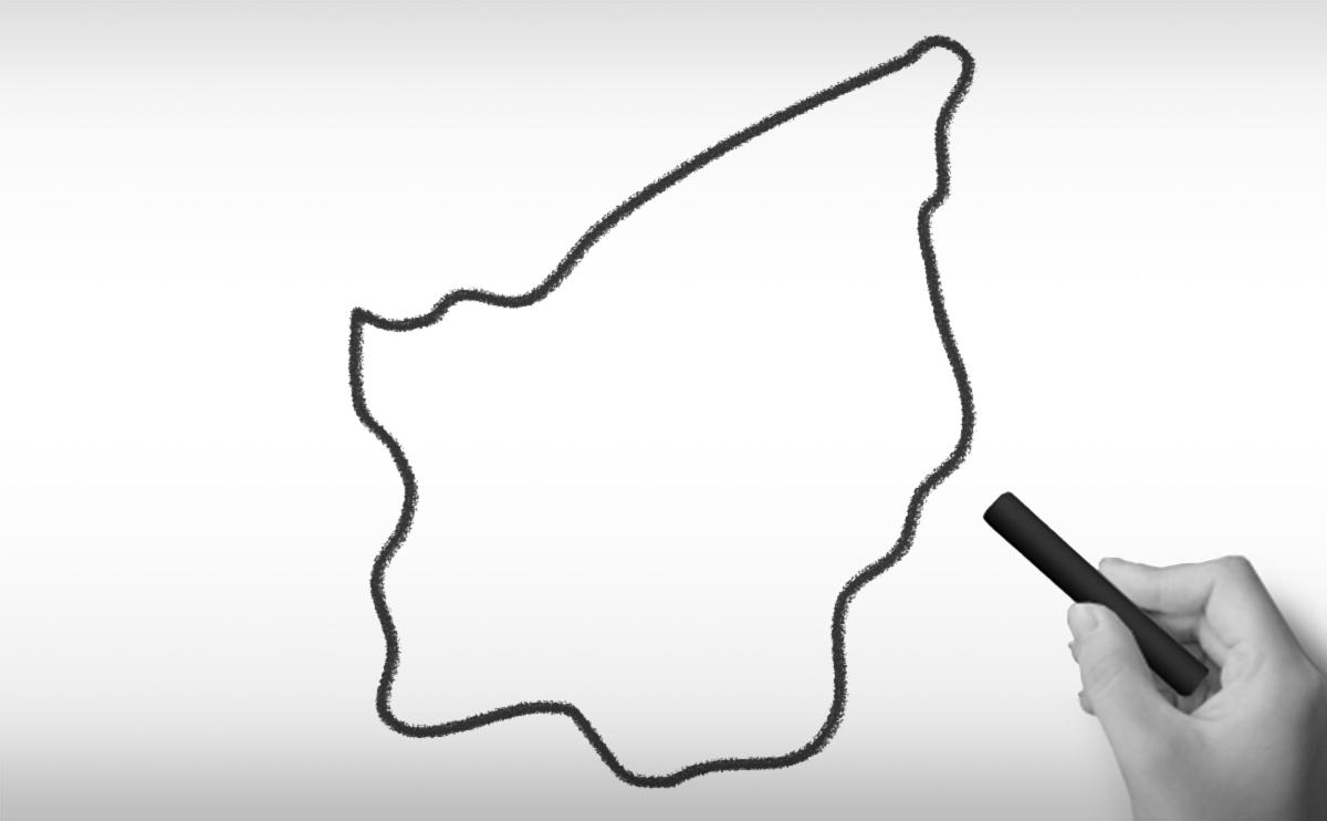 サンマリノ共和国の白地図イラスト