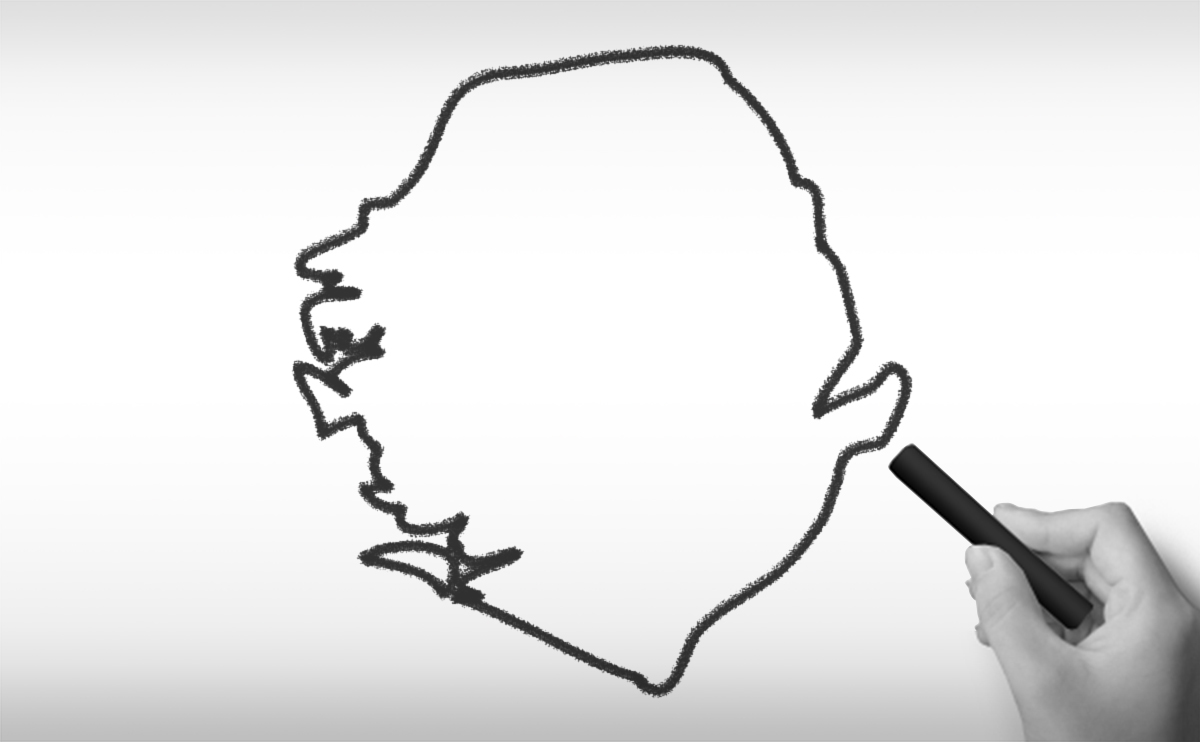 シエラレオネ共和国の白地図イラスト