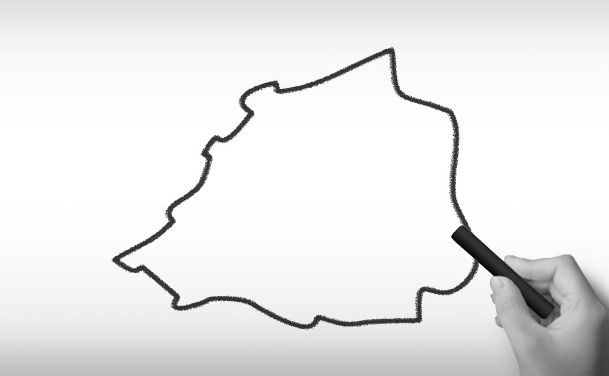 バチカン市国の白地図イラスト