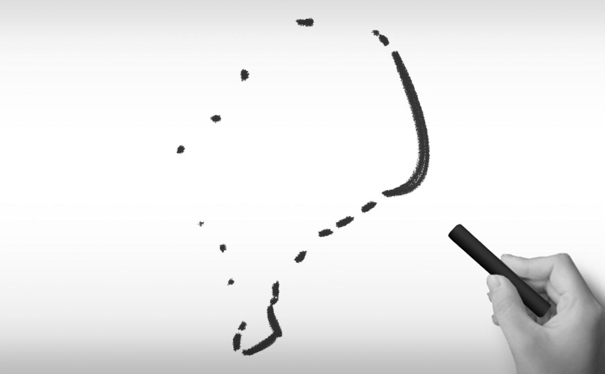ツバルの白地図イラスト
