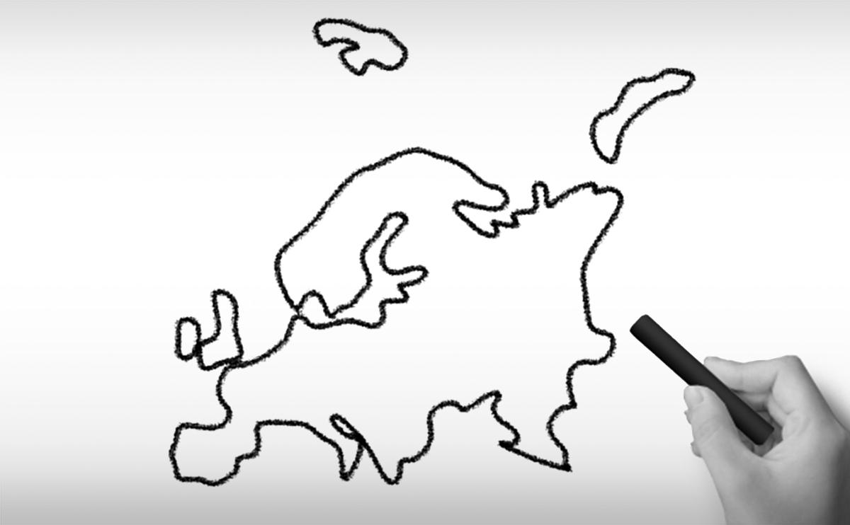 ヨーロッパ大陸の白地図イラスト(国名入り・首都名入り)を無料ダウンロード