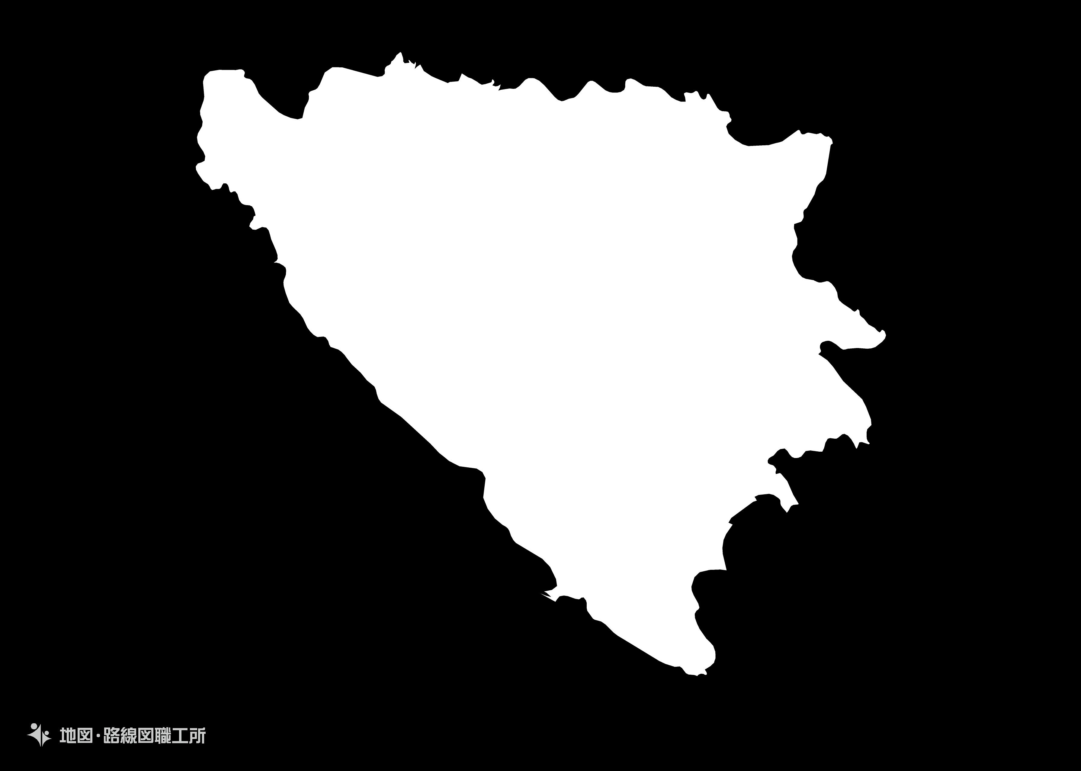 世界の白地図 ボスニア・ヘルツェゴビナ bosnia-and-herzegovina map