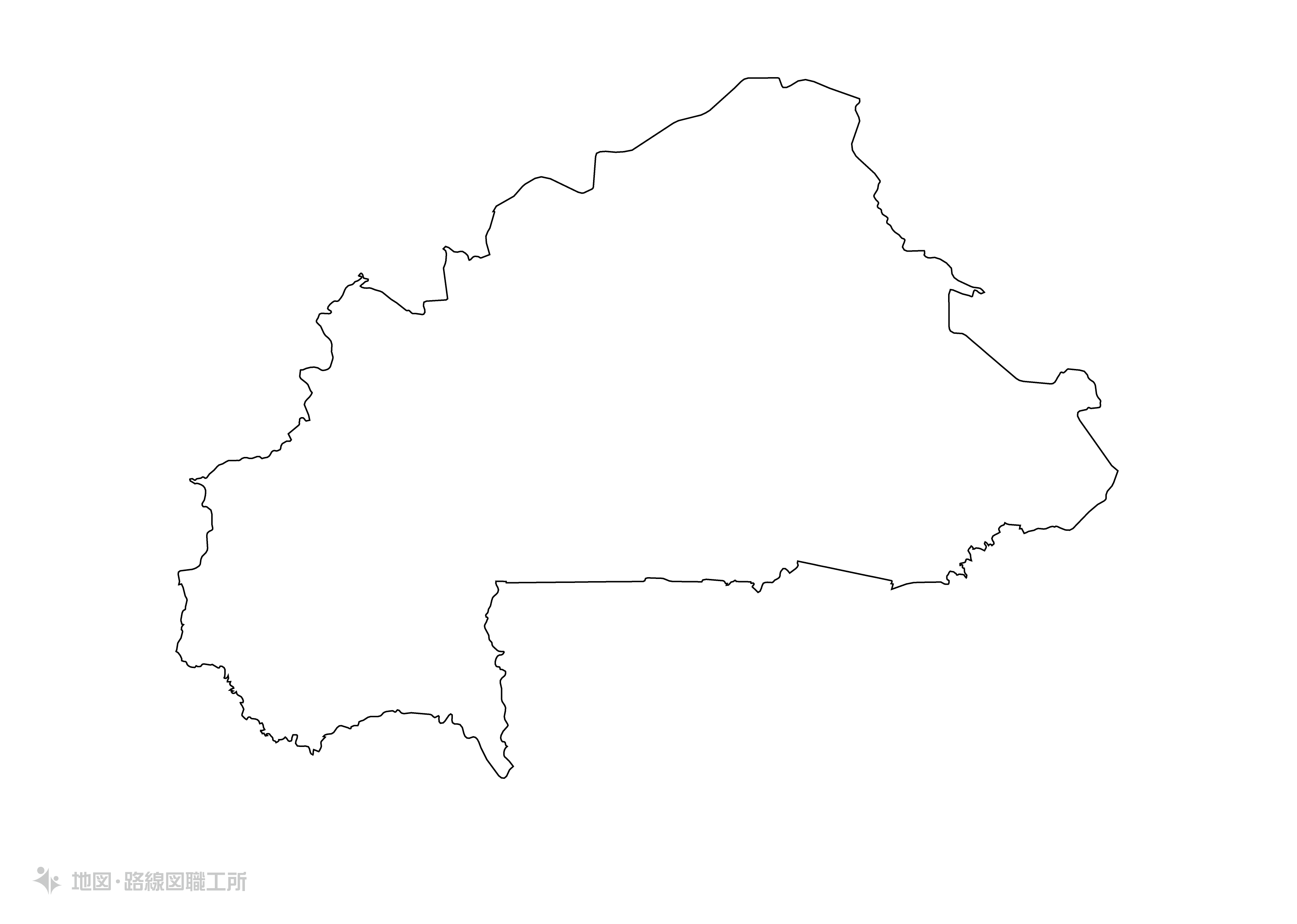 世界の白地図 ブルキナファソ burkina-faso map