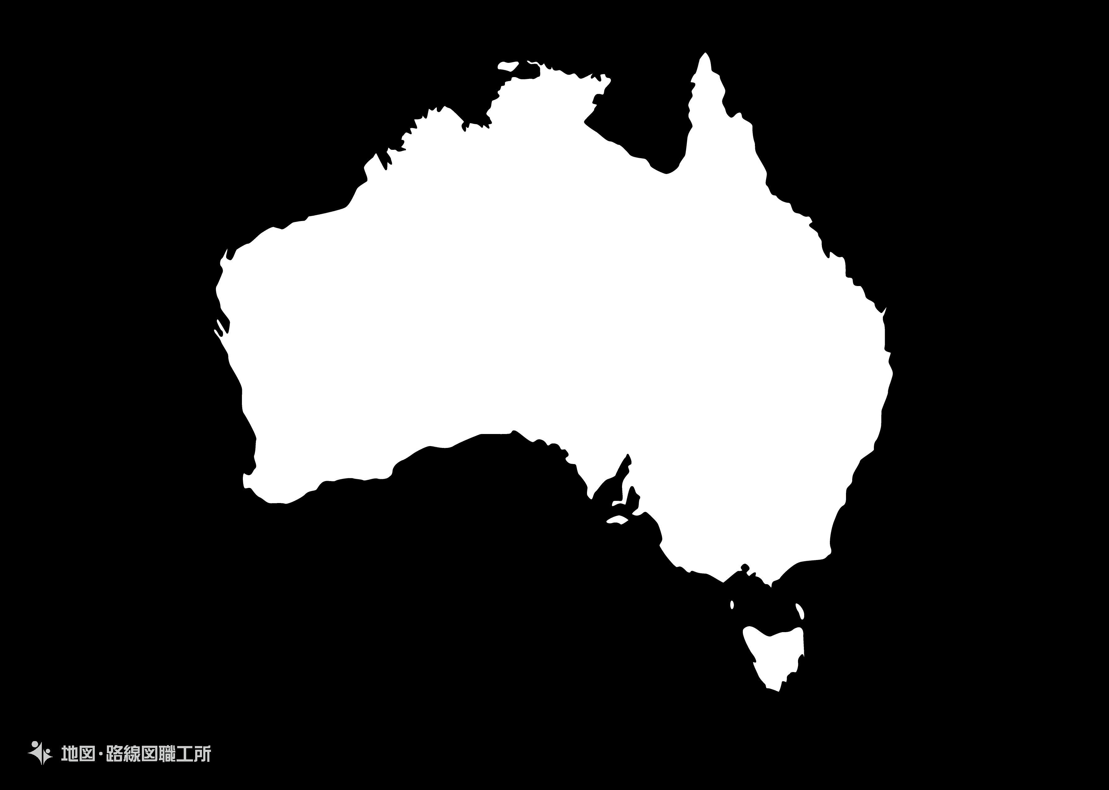 世界の白地図 オーストラリア連邦 commonwealth-of-australiamap