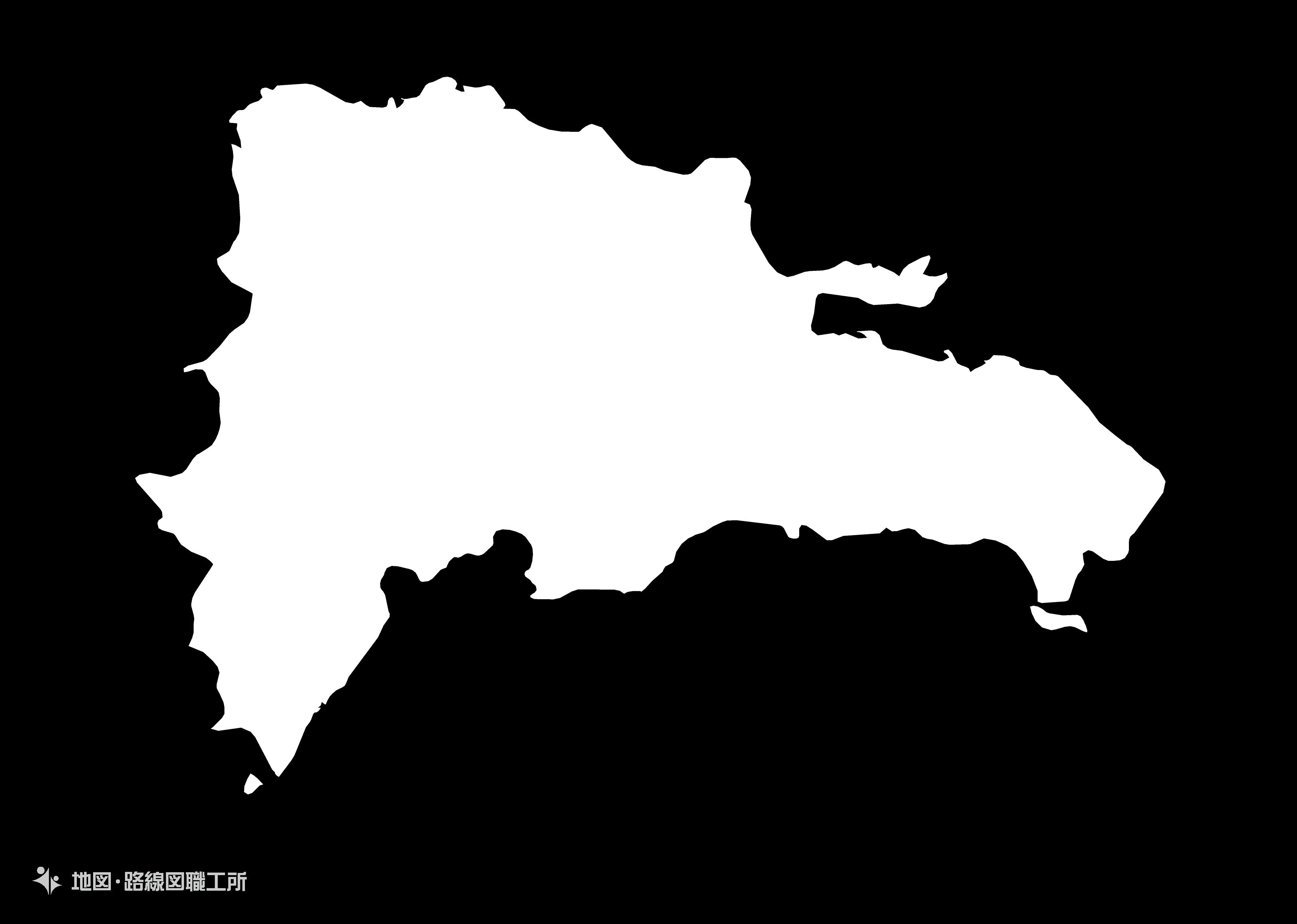 世界の白地図 ドミニカ共和国 dominican-republic map