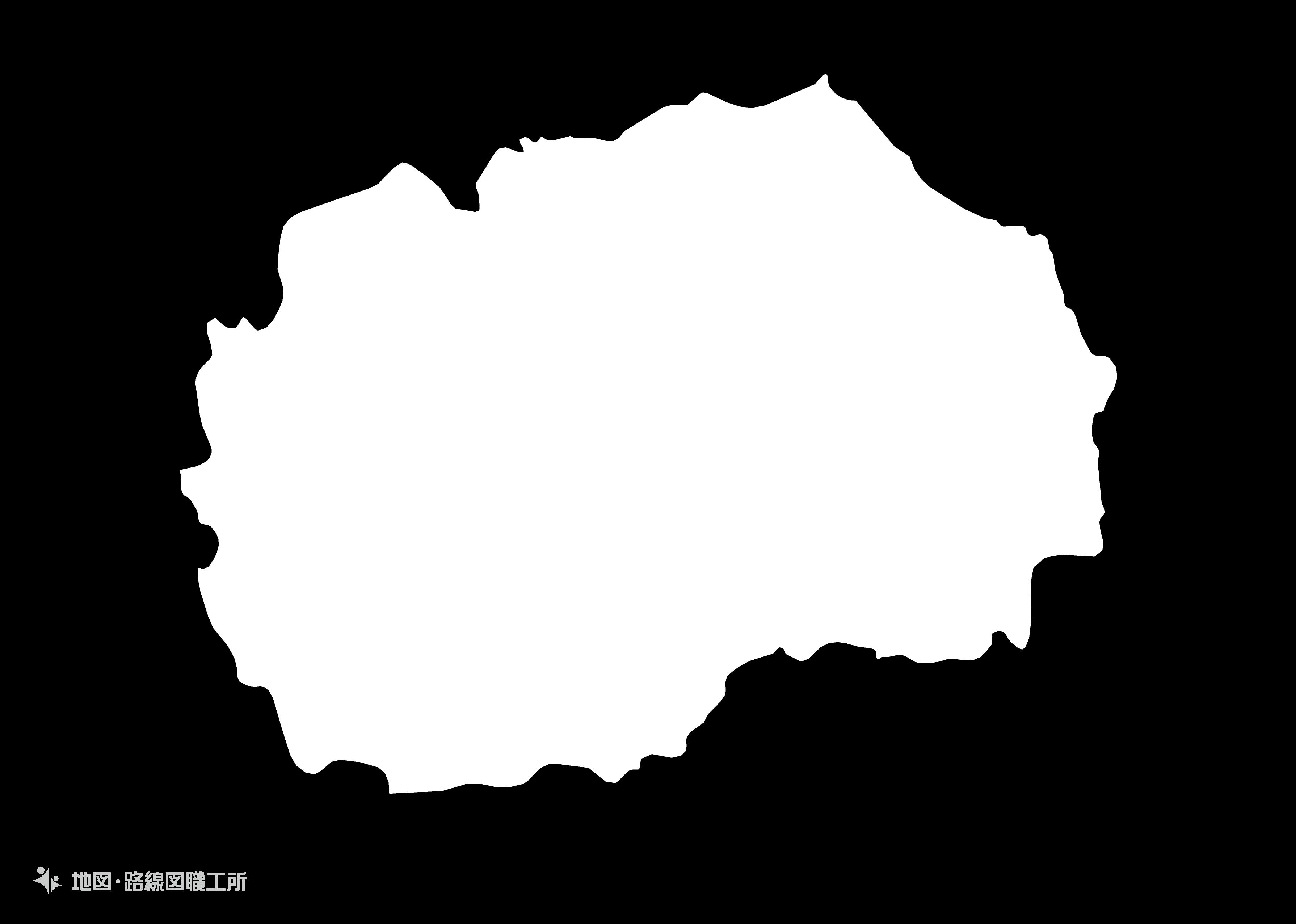 世界の白地図 北マケドニア共和国 former-yugoslav-republic-of-macedonia map