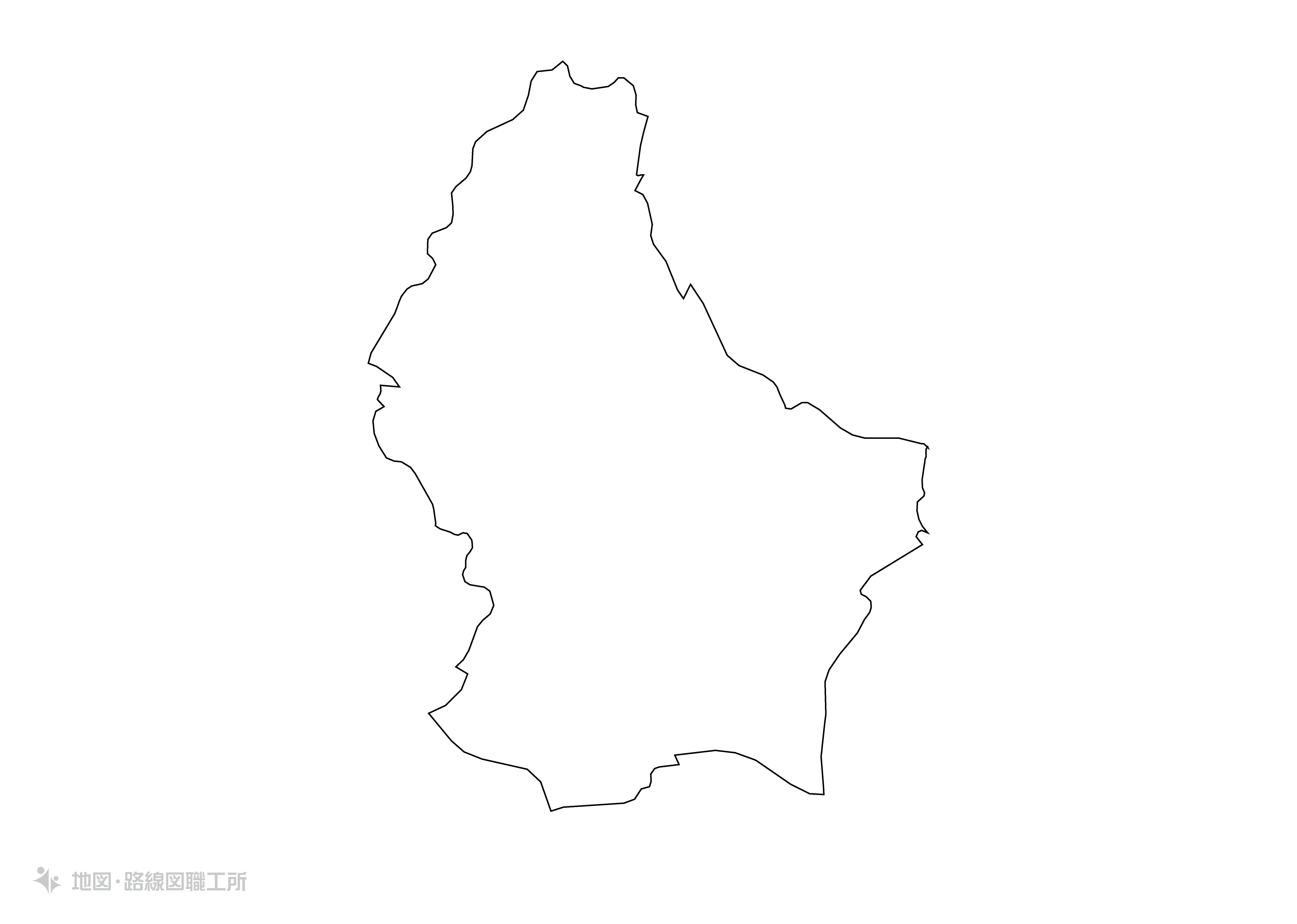 世界の白地図 ルクセンブルク大公国 grand-duchy-of-luxembourg map