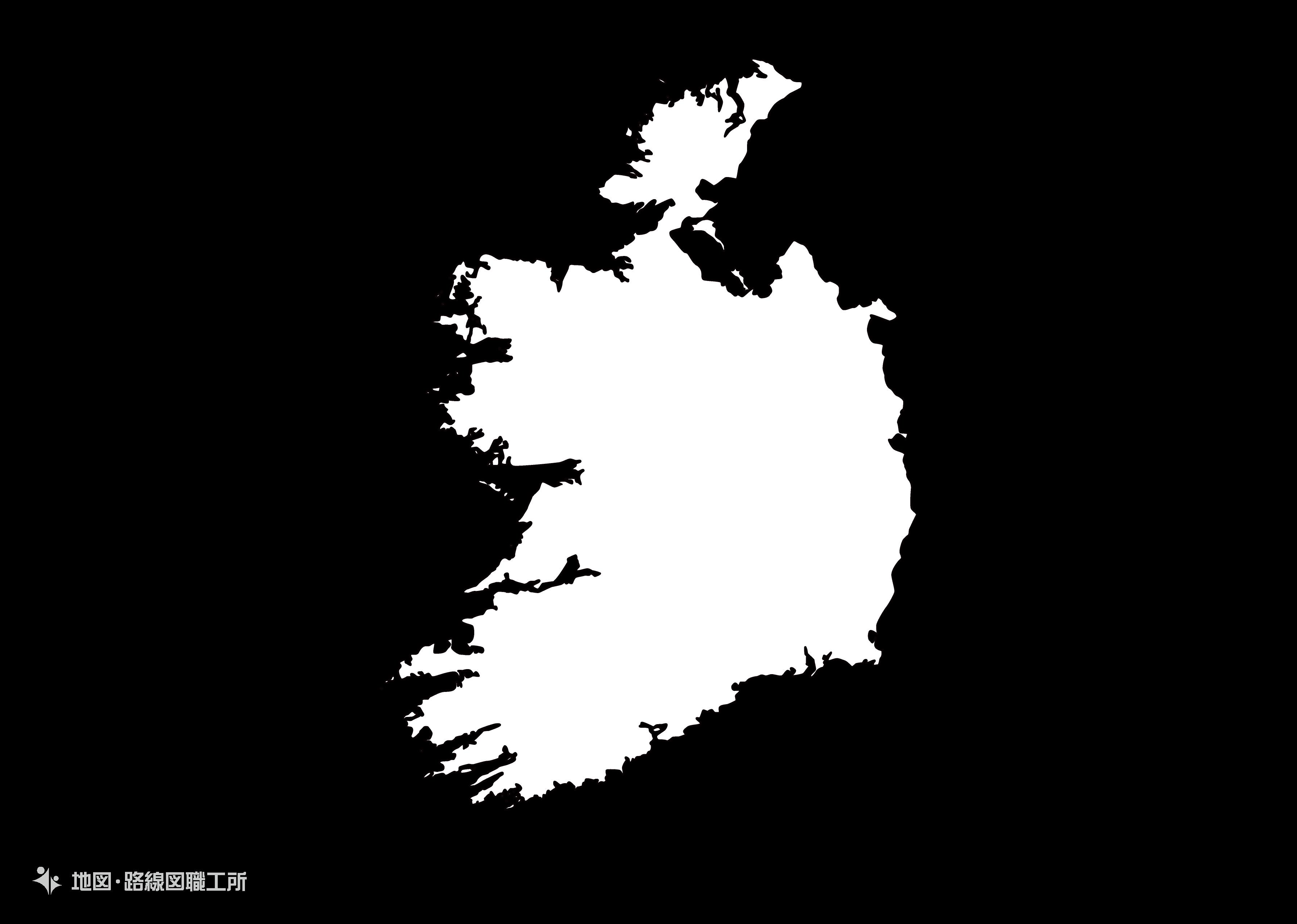 世界の白地図 アイルランド republic-of-albania map