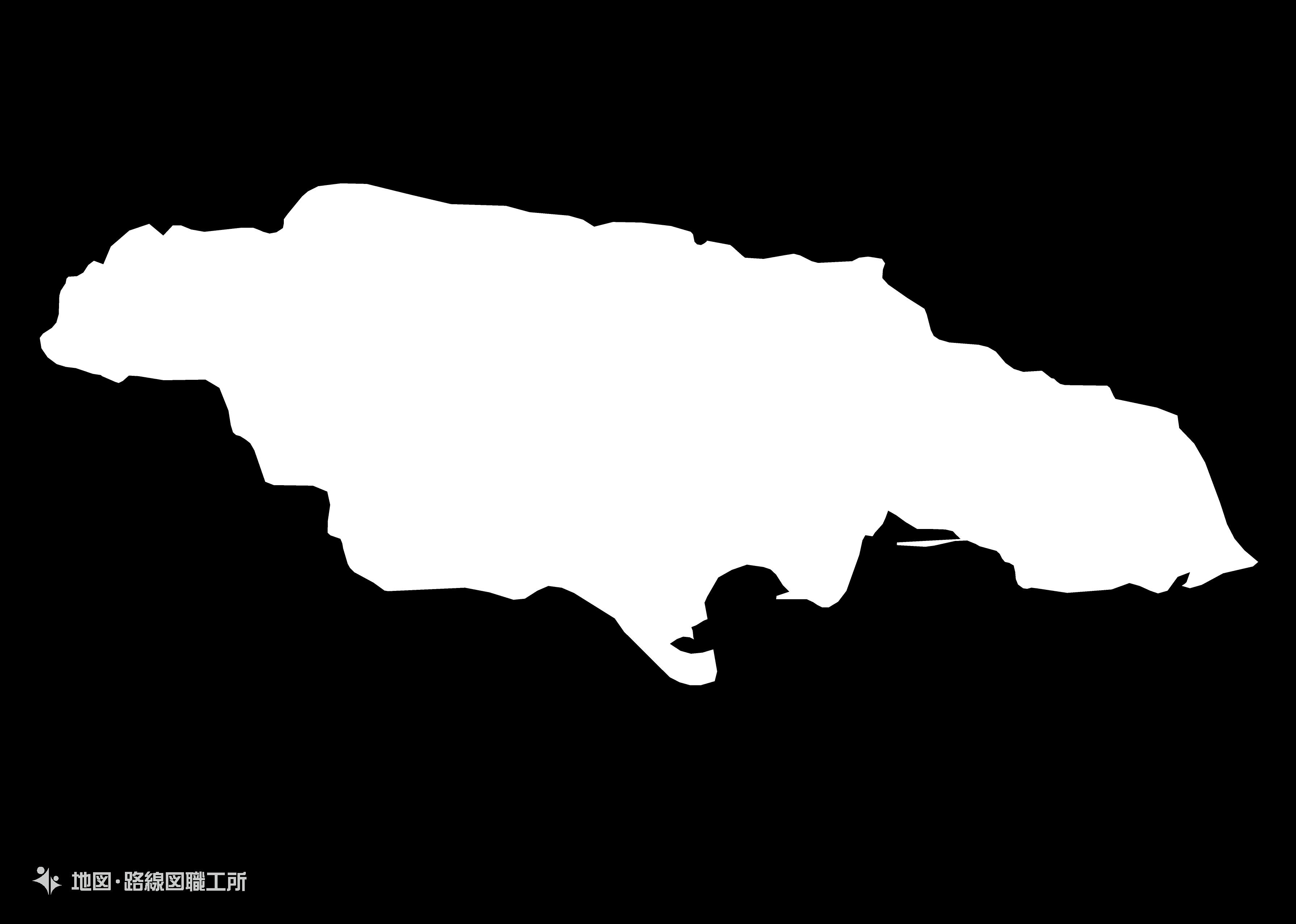 世界の白地図 ジャマイカ jamaica map