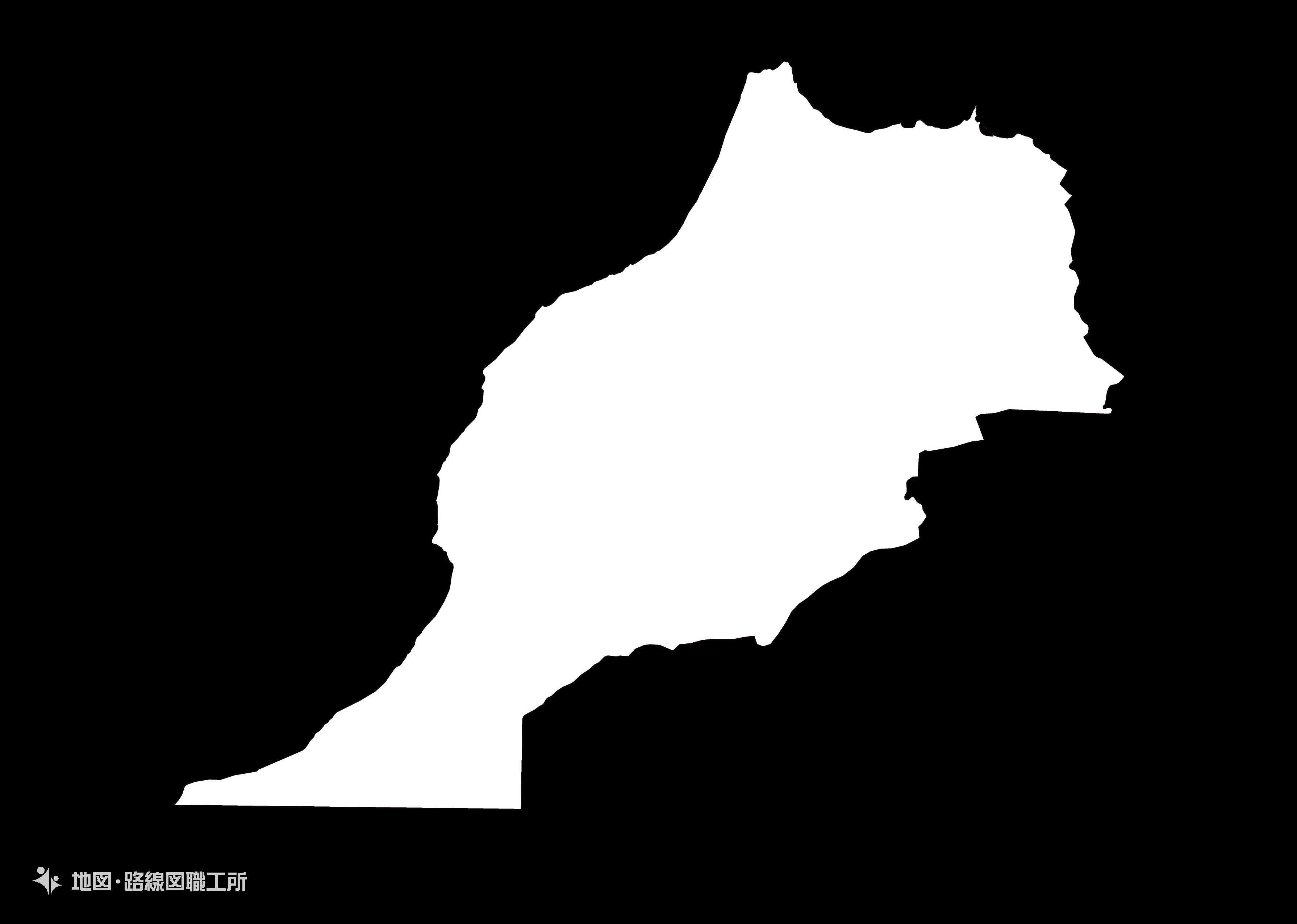 世界の白地図 モロッコ王国 kingdom-of-morocco map