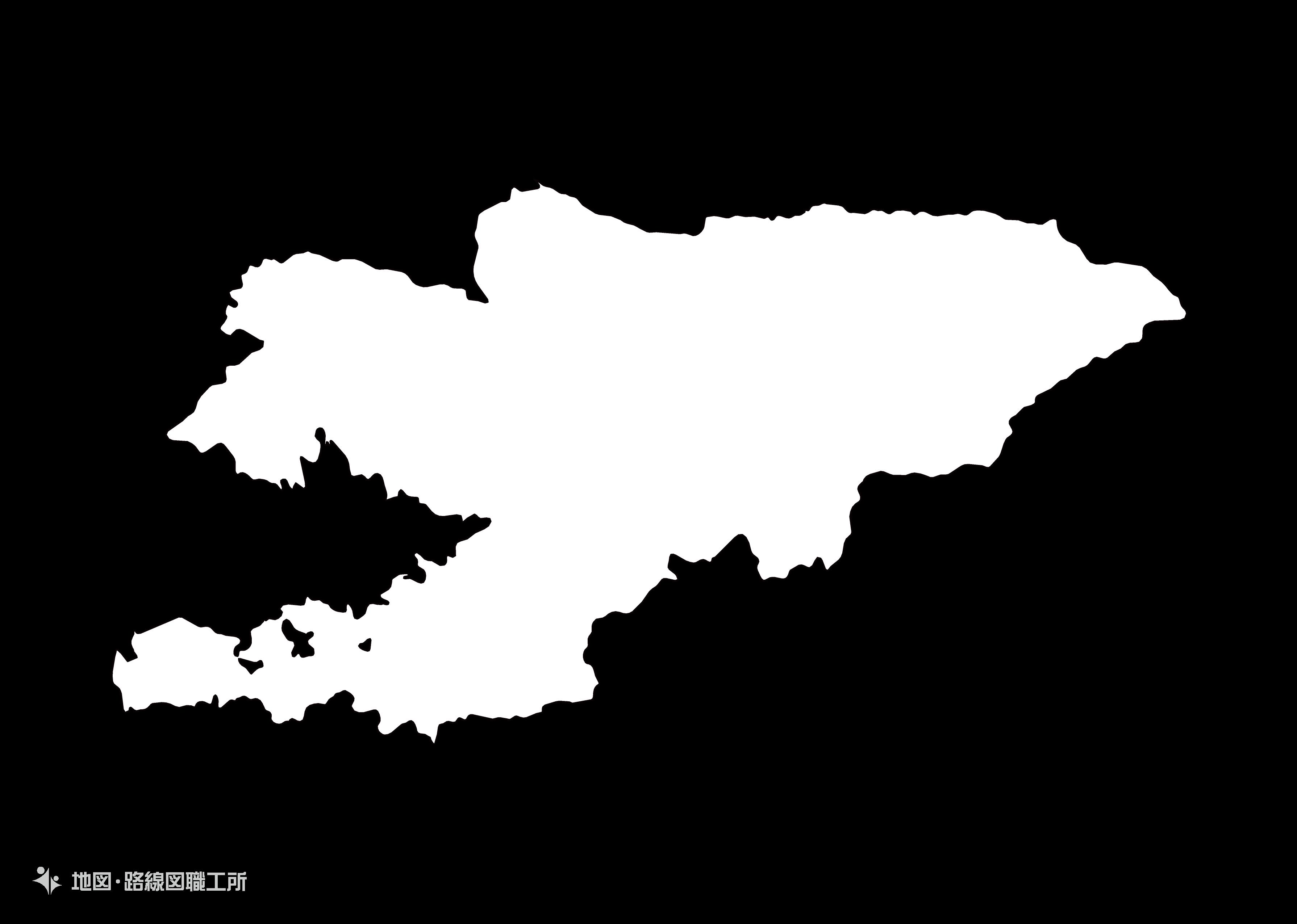 世界の白地図 キルギス共和国 kyrgyz-republic map
