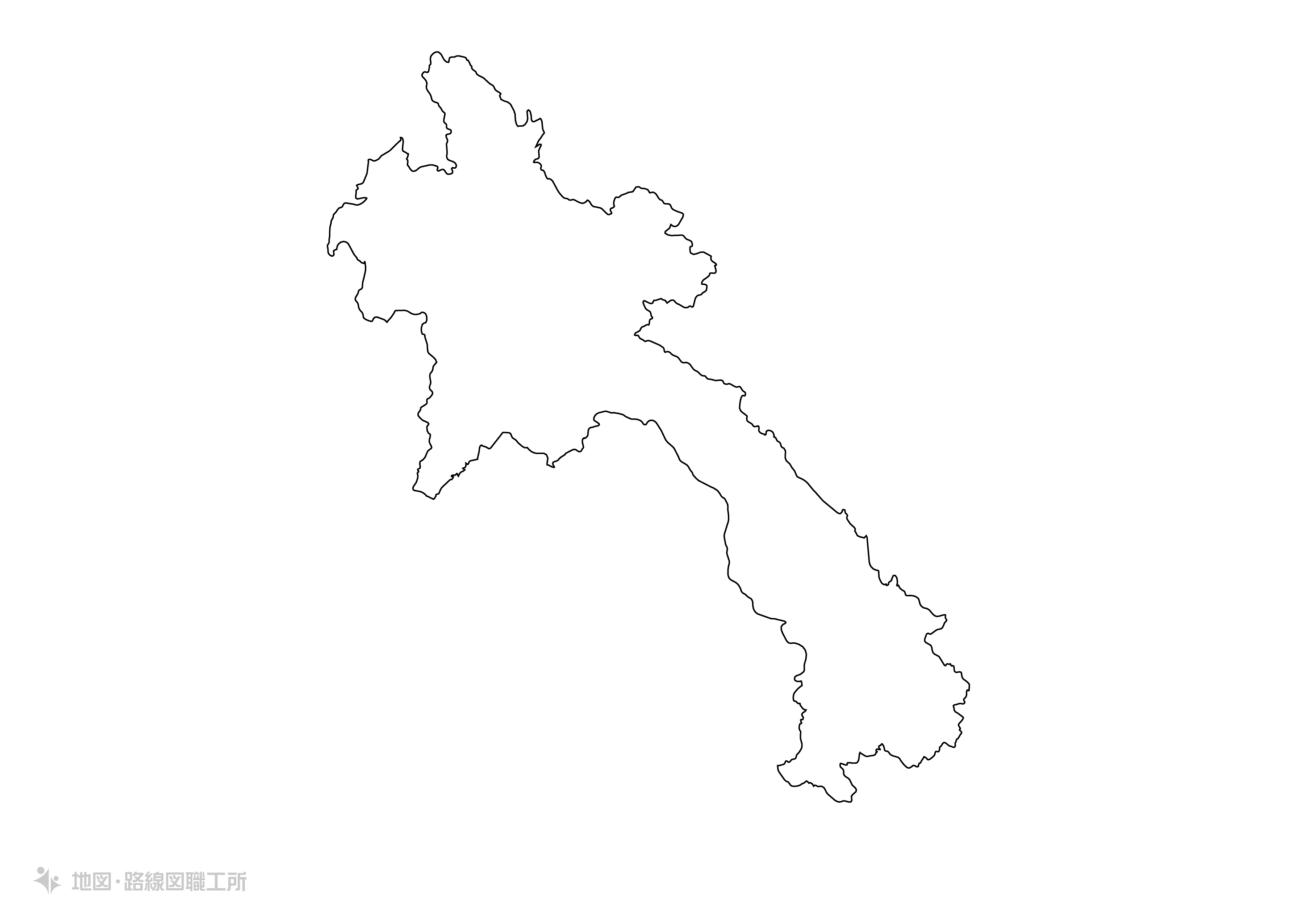 世界の白地図 ラオス人民民主共和国 lao-peoples-democratic-republic map