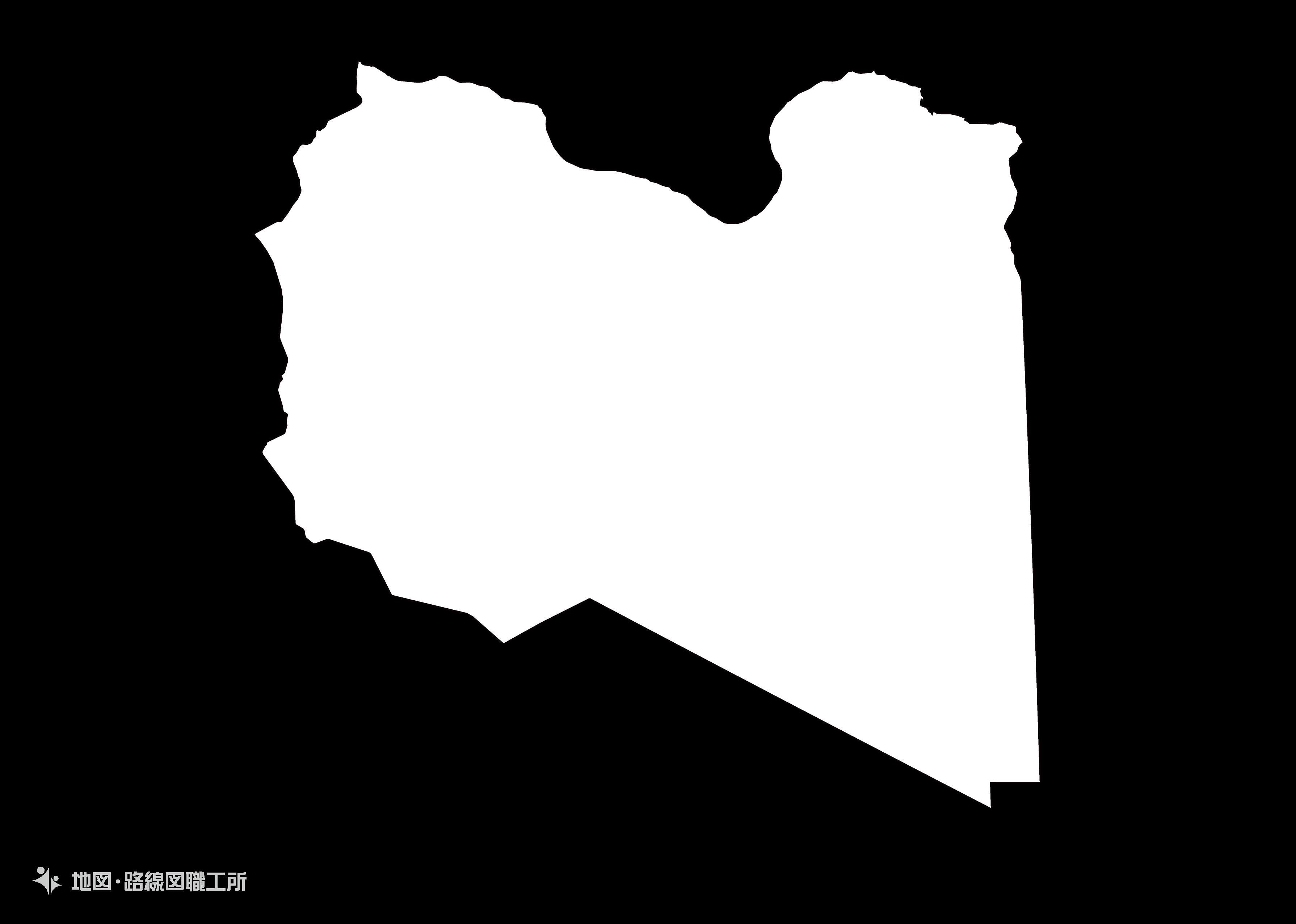 世界の白地図 リビア libya map