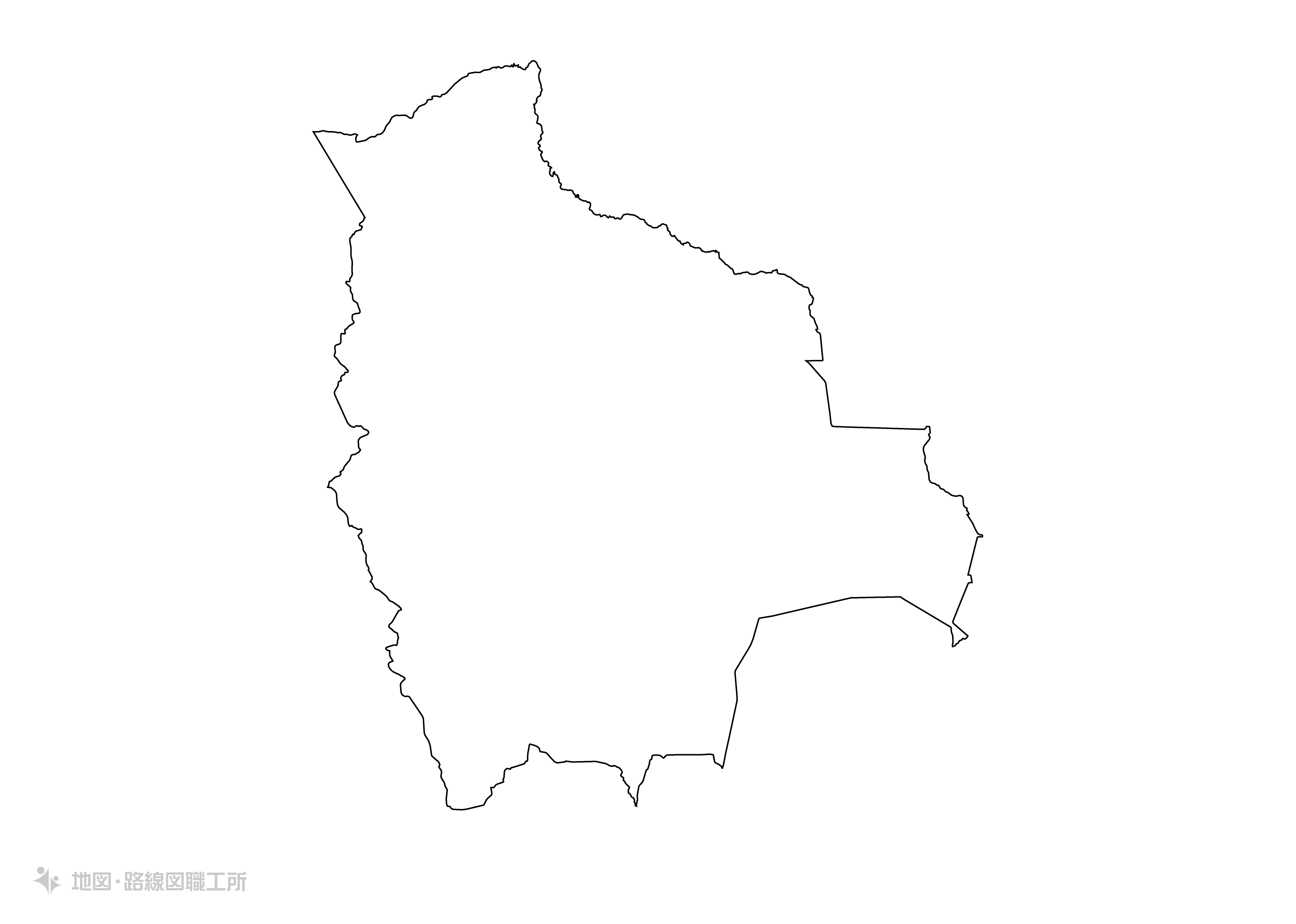 世界の白地図 ボリビア多民族国 plurinational-state-of-bolivia map