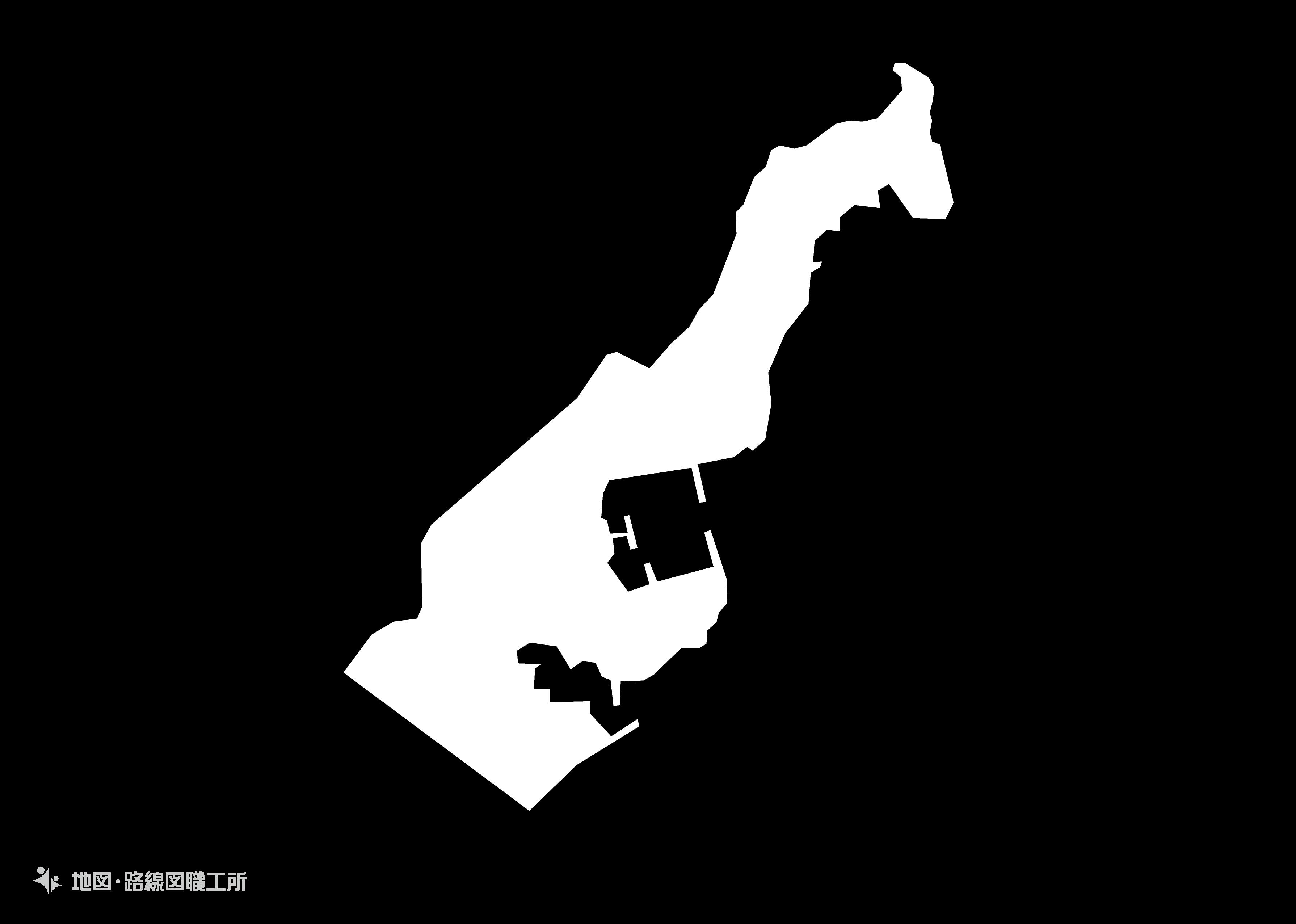 世界の白地図 モナコ公国principality-of-monaco map