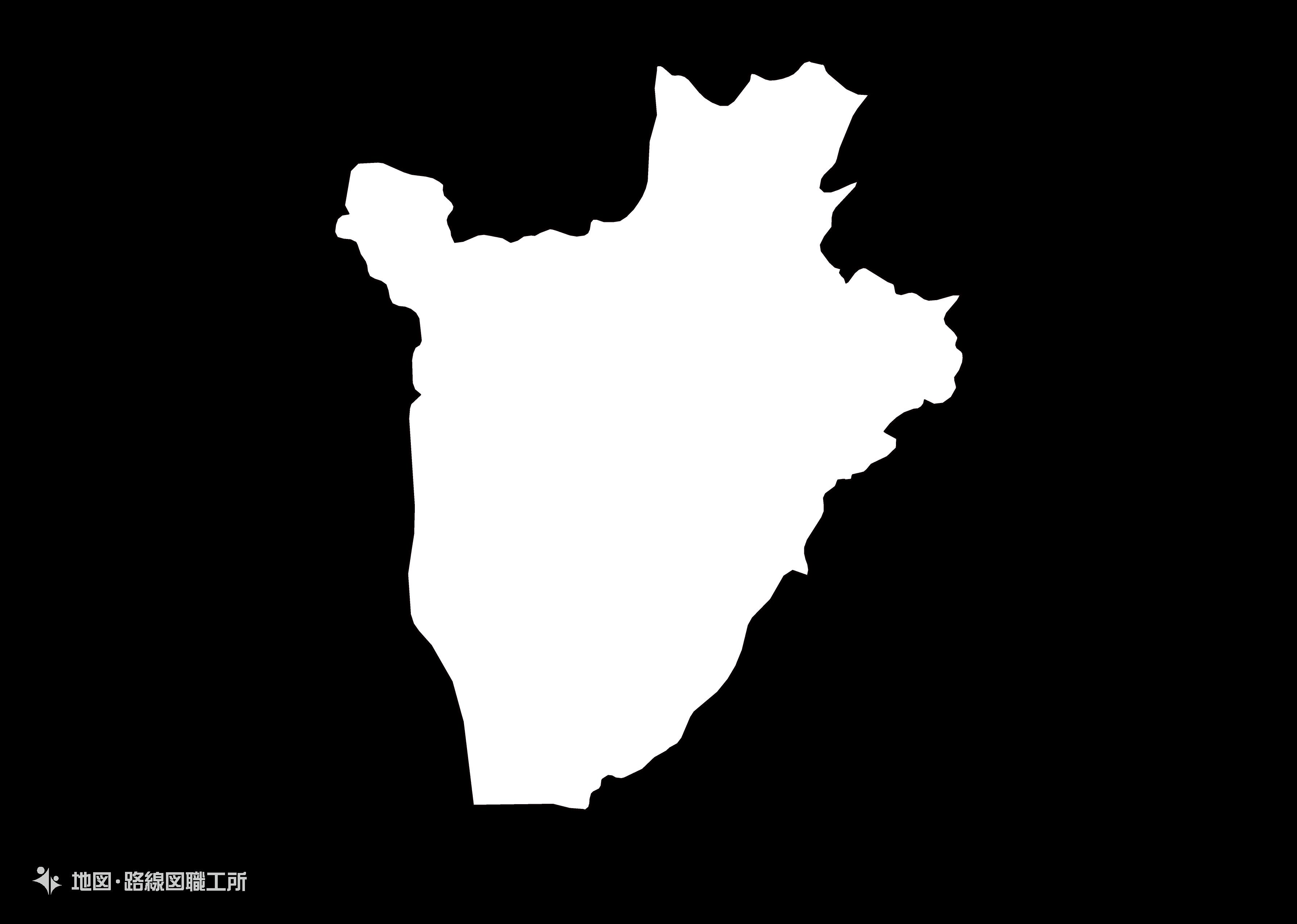 世界の白地図 ブルンジ共和国 republic-of-burundi map