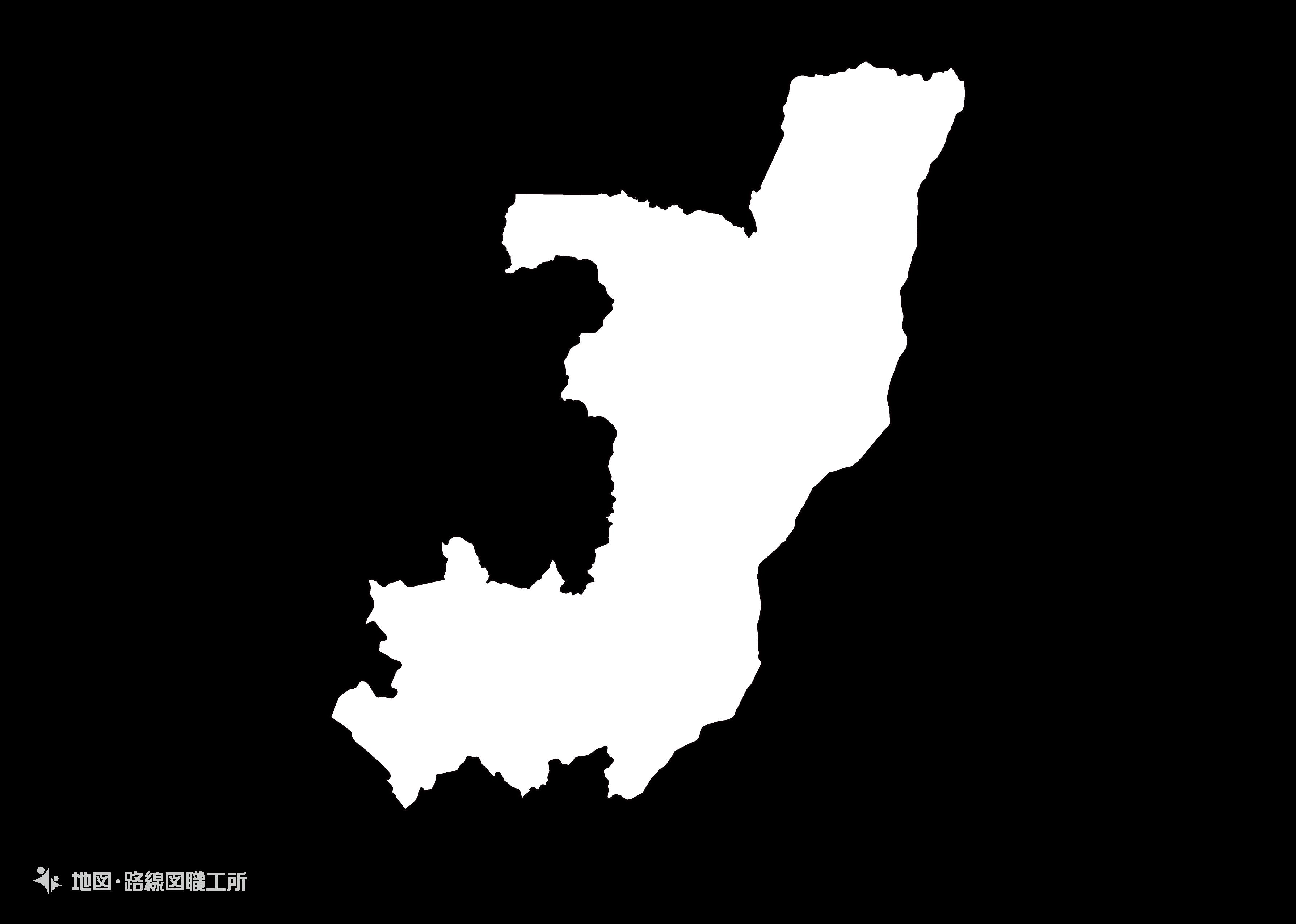 世界の白地図 コンゴ共和国 republic-of-congo map