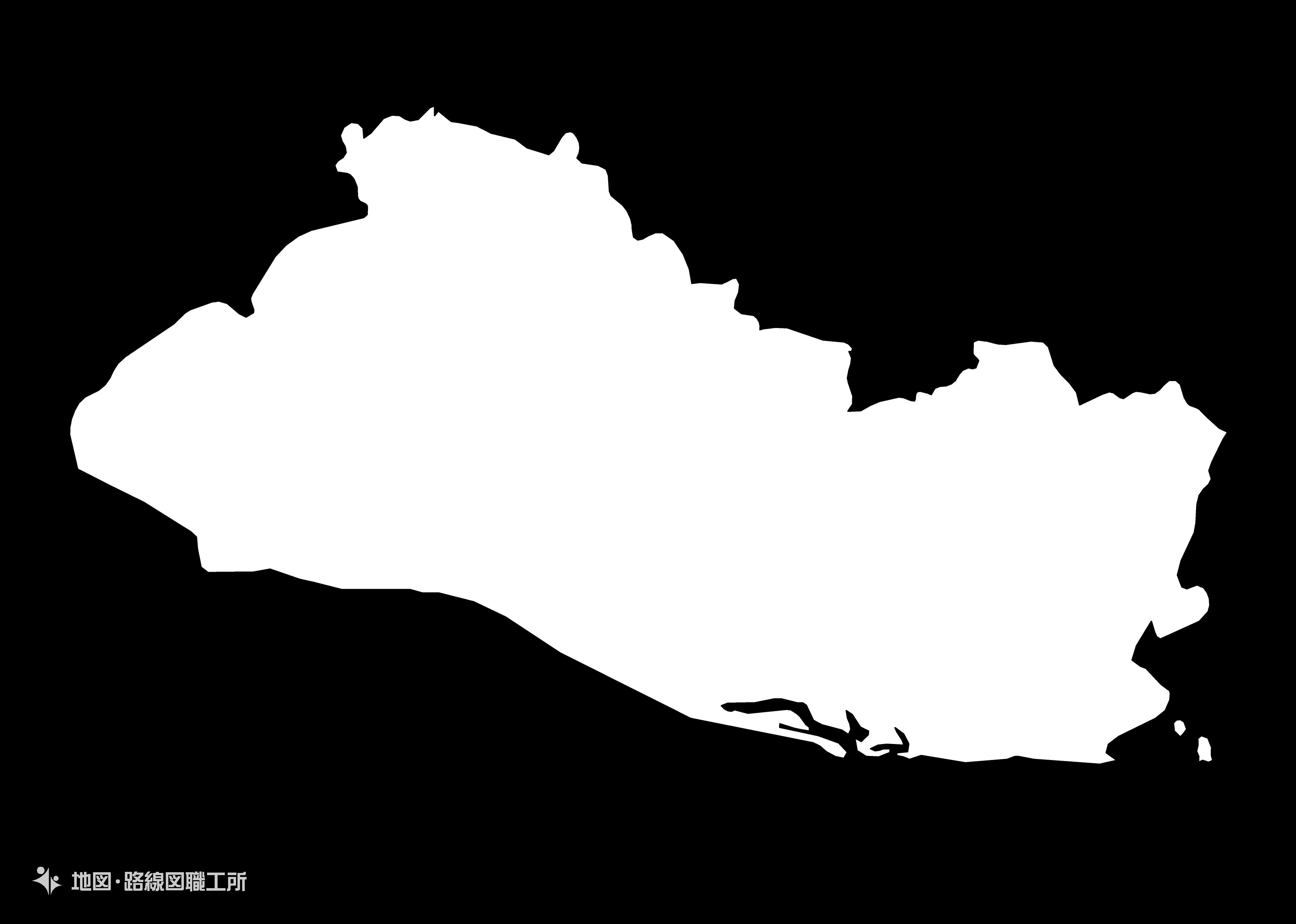 世界の白地図 エルサルバドル共和国 republic-of-el-salvadorrepublic-of-el-salvador map