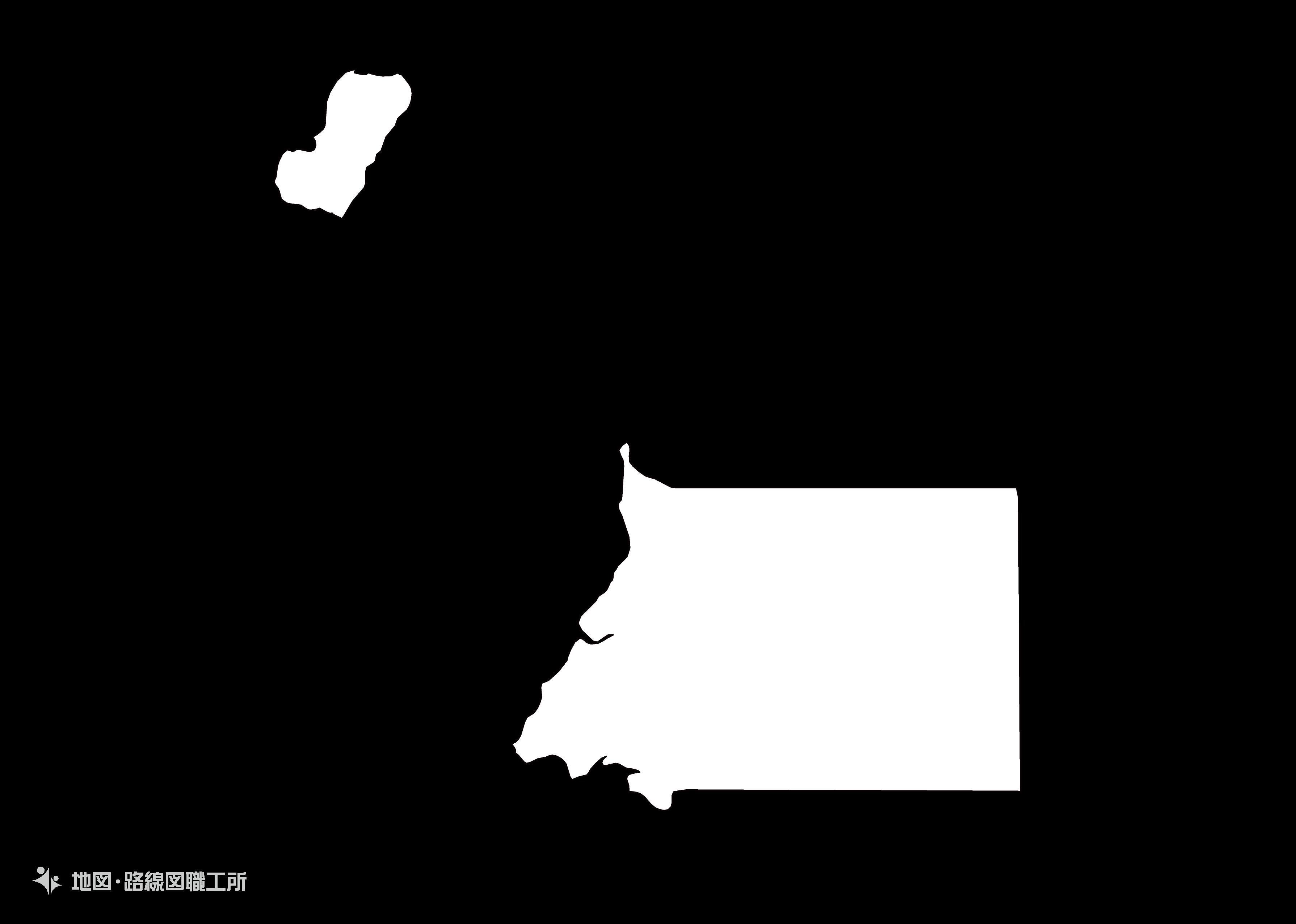 世界の白地図 赤道ギニア共和国 republic-of-equatorial-guinea map