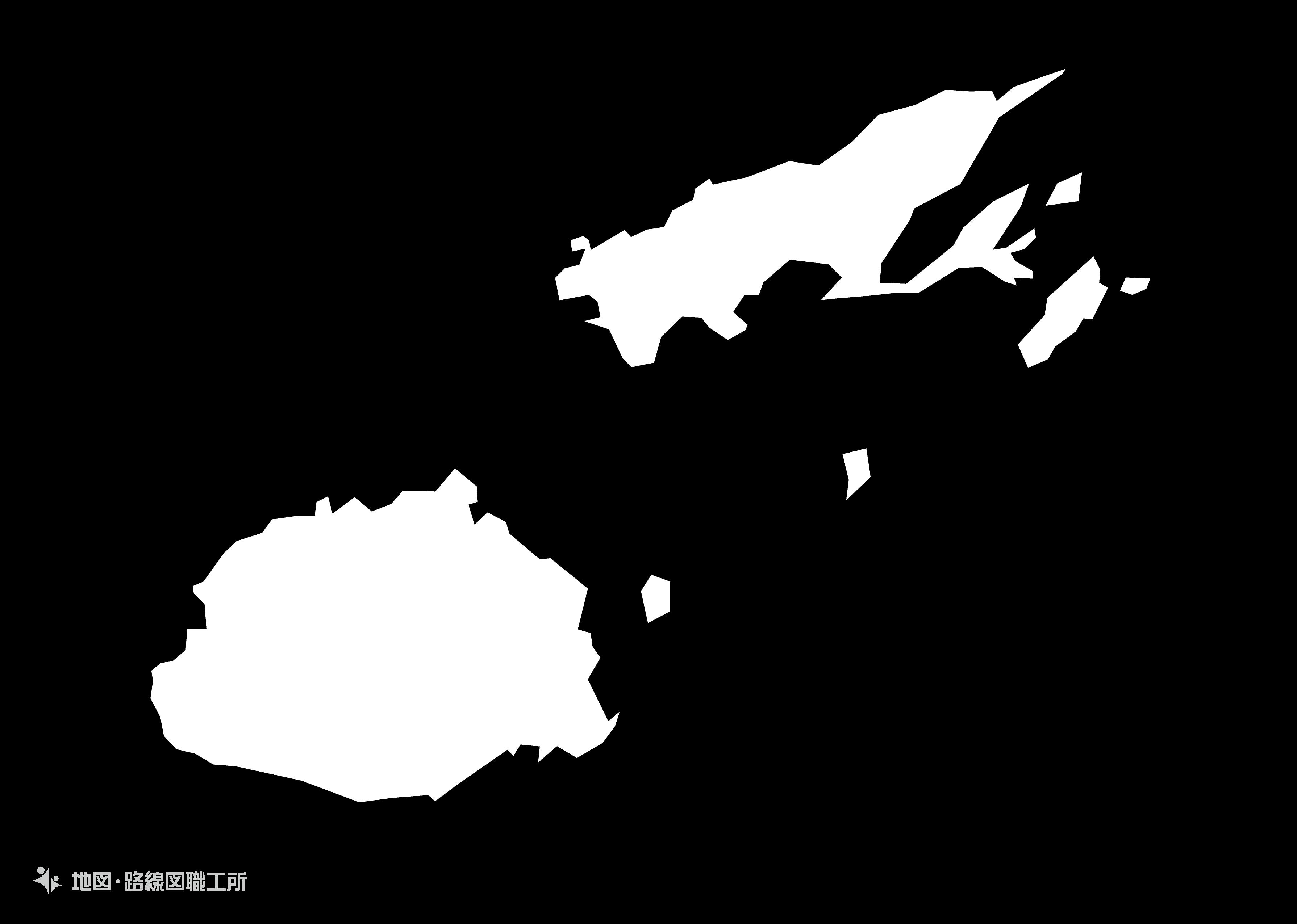 世界の白地図 フィジー共和国 republic-of-fiji map
