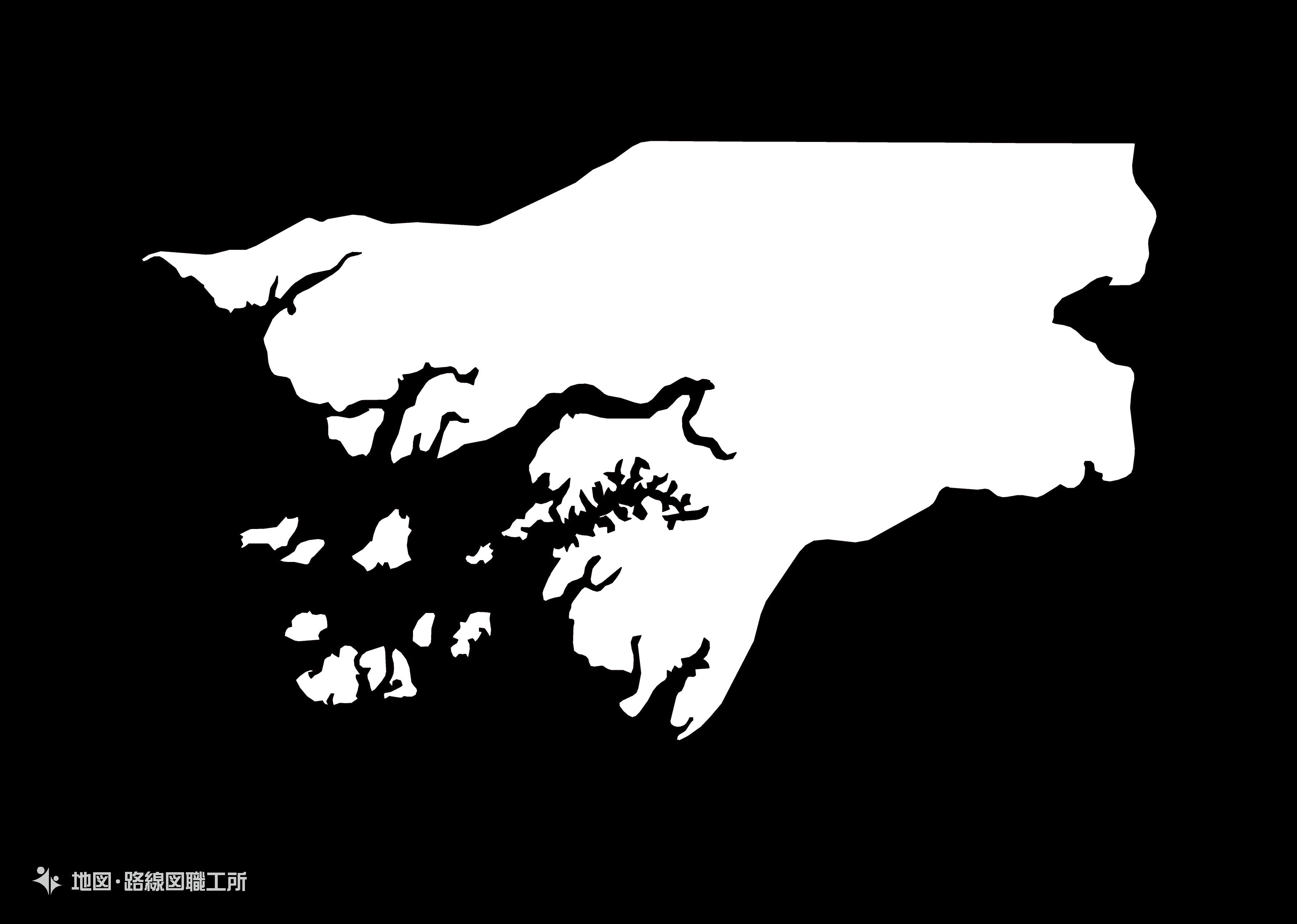 世界の白地図 ギニアビザウ共和国 republic-of-guinea-bissau map