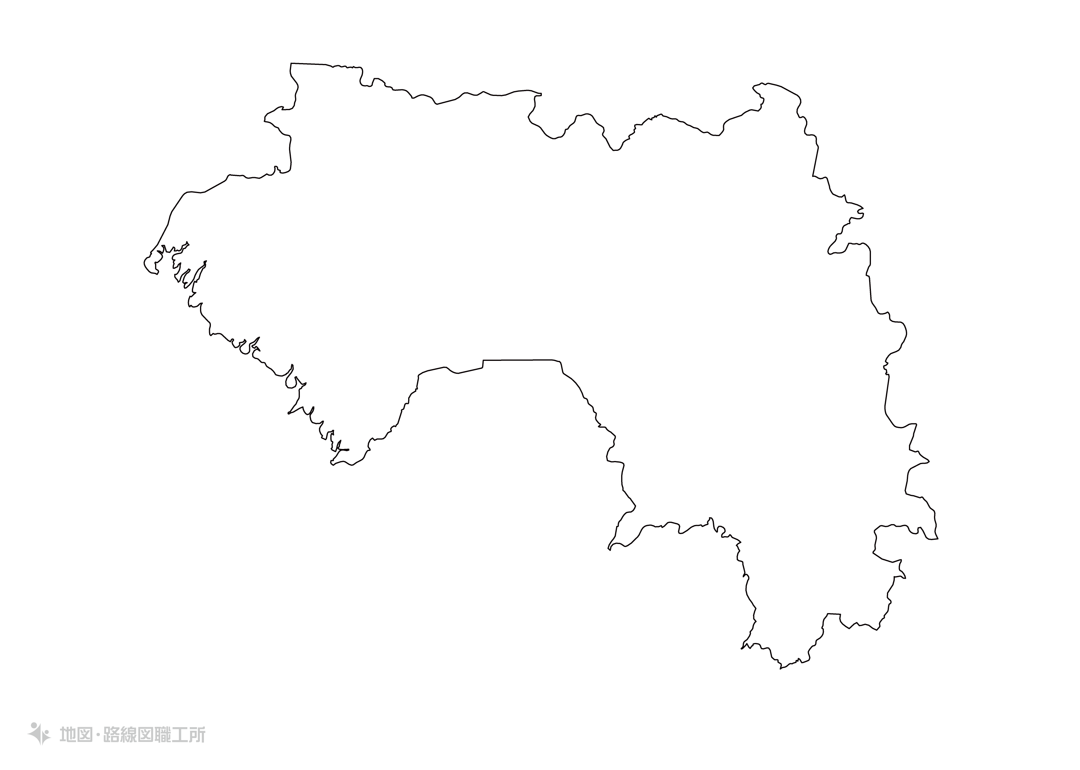 世界の白地図 ギニア共和国 republic-of-guinea map