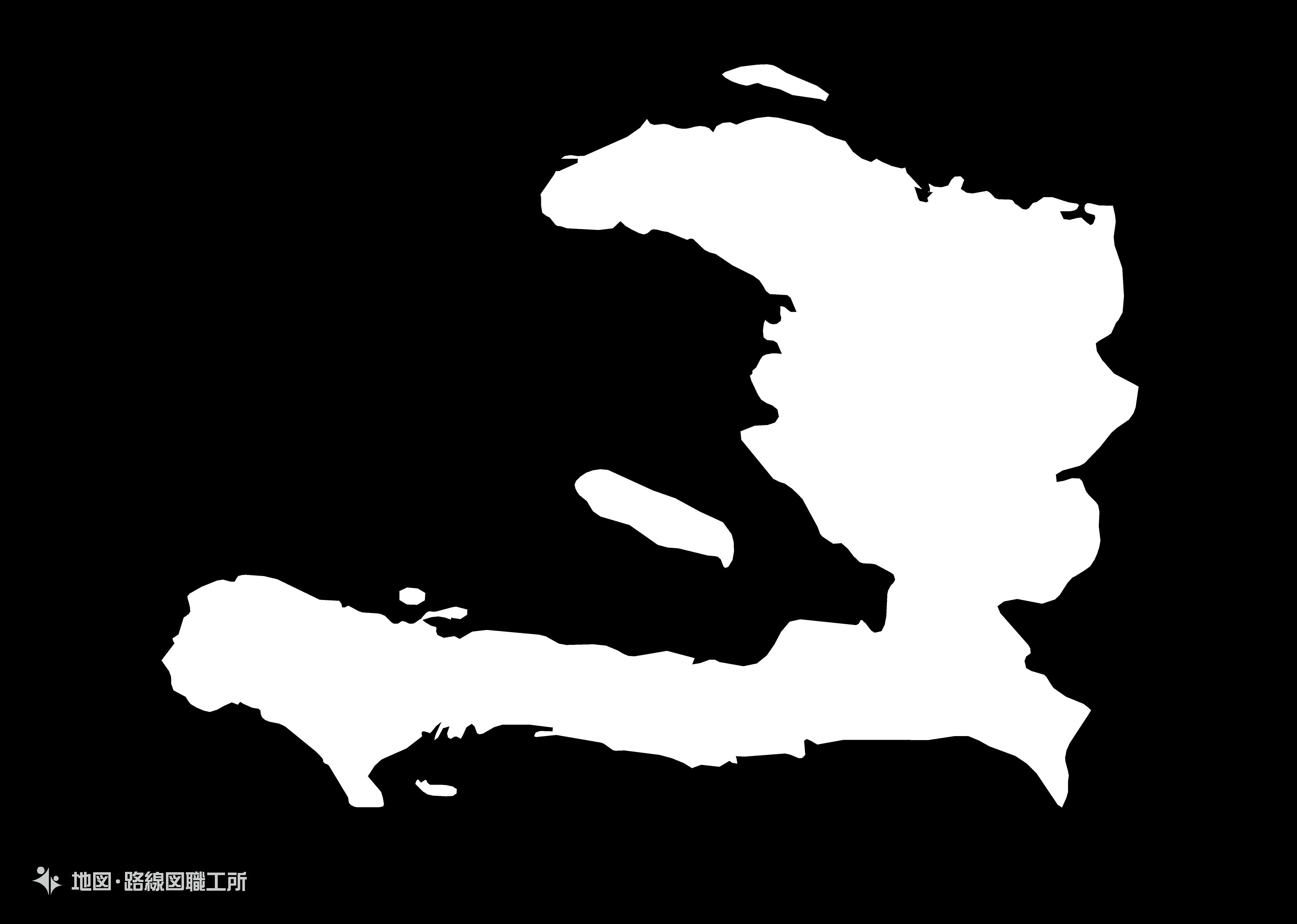 世界の白地図 ハイチ共和国 republic-of-haiti map