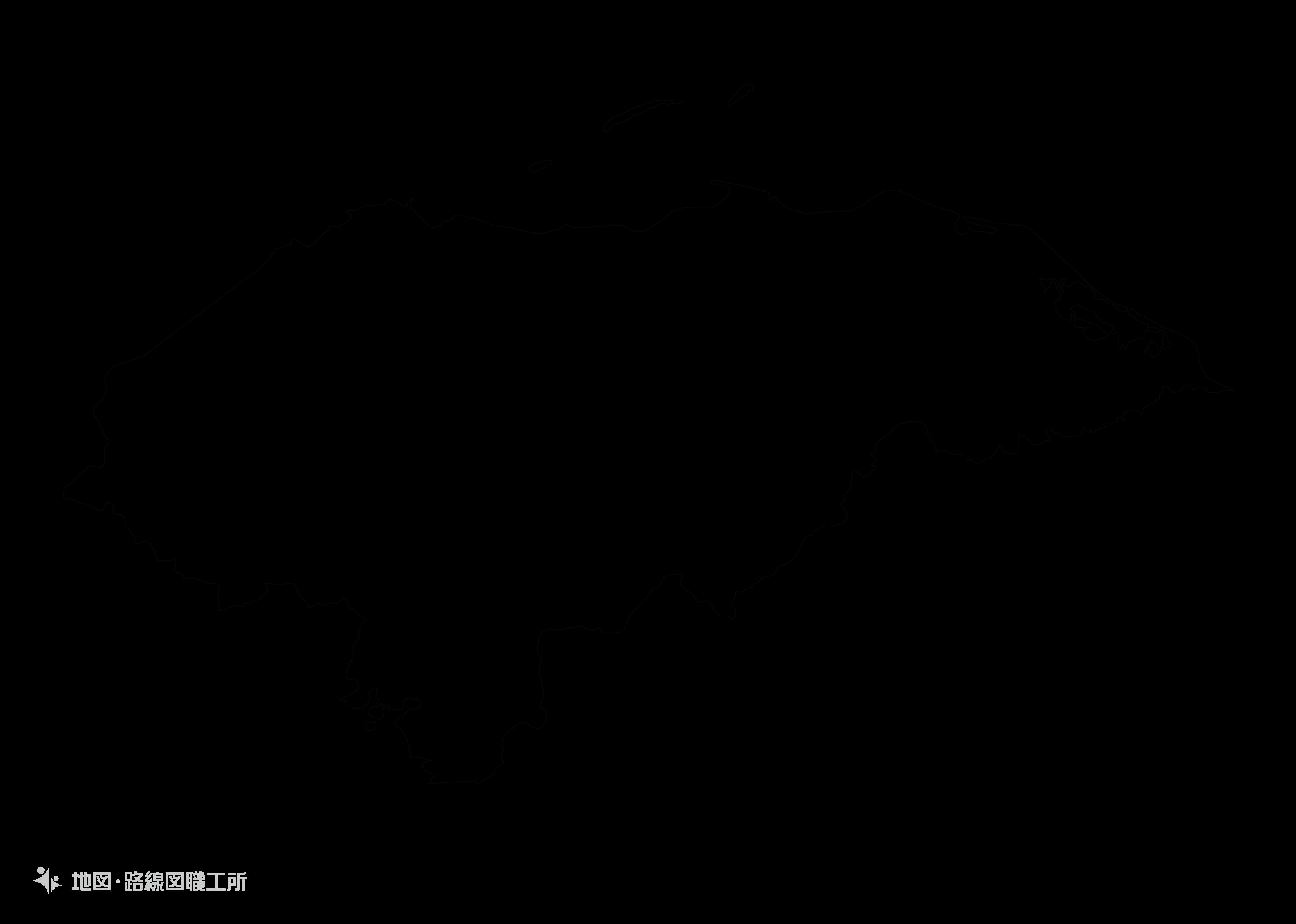 世界の白地図 ホンジュラス共和国 republic-of-honduras map